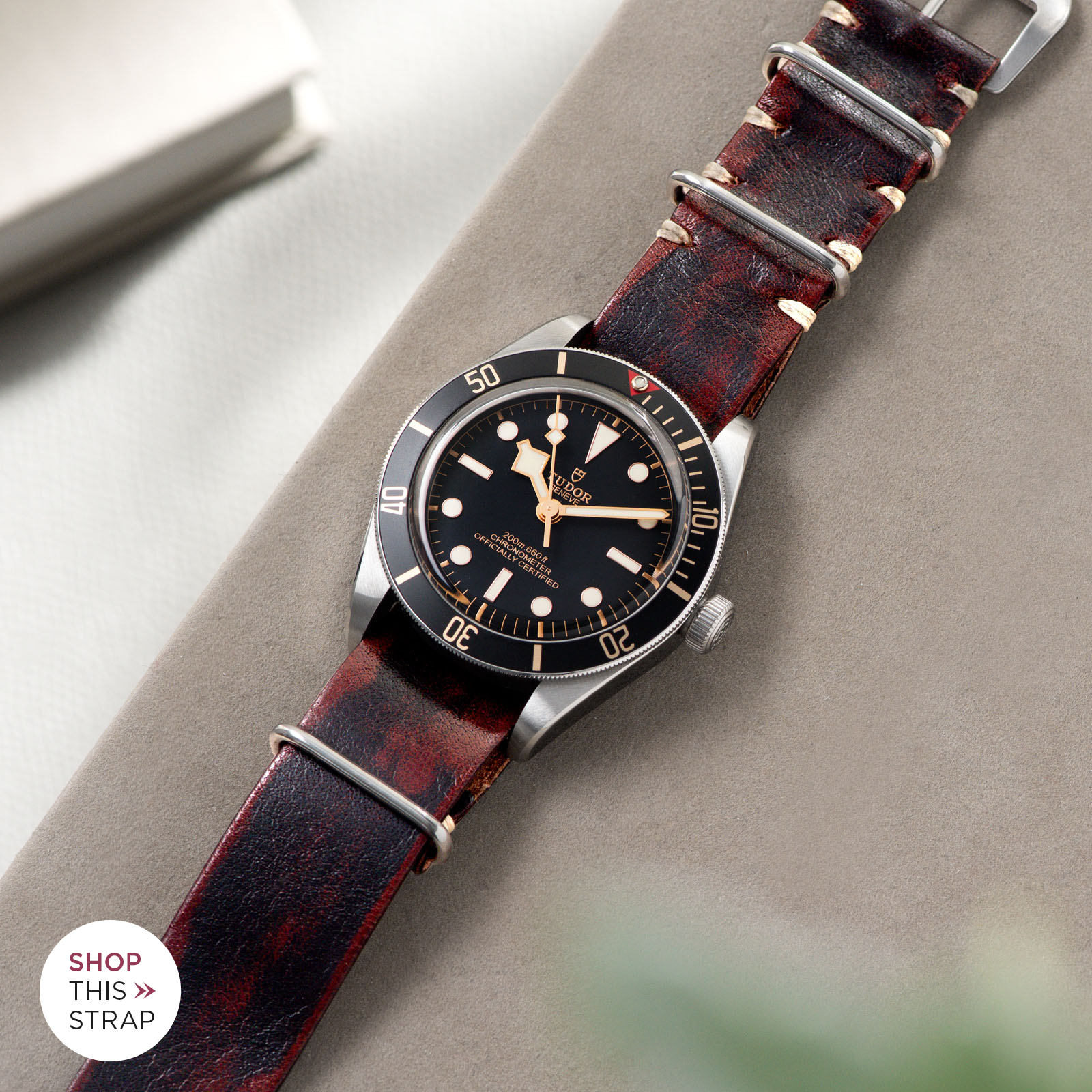 Bulang and Sons_Strap Guide_Tudor Black Bay 58_Diablo Black Nato Leather Watch Strap