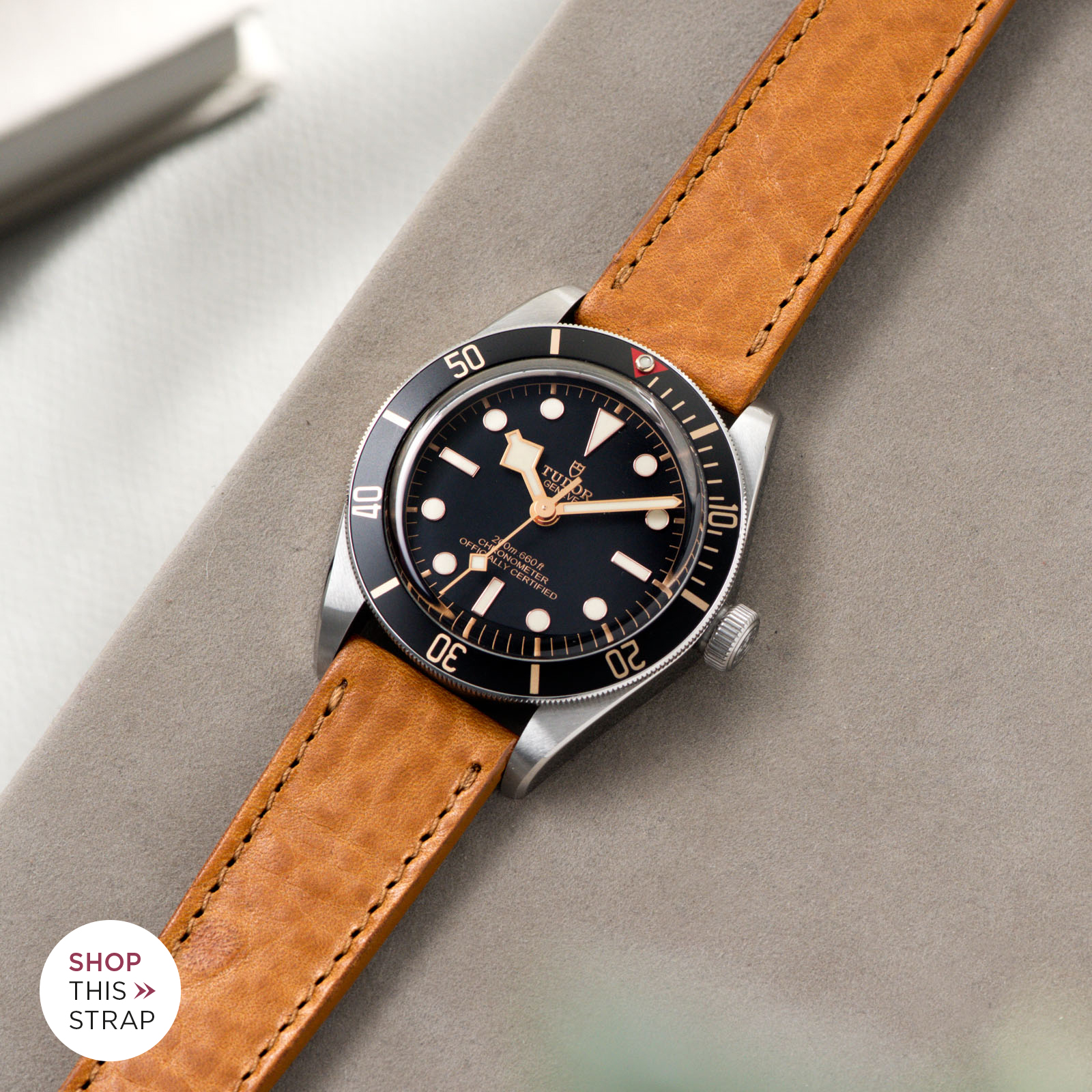 Bulang and Sons_Strap Guide_Tudor Black Bay 58_Gilt Brown Tonal Leather Watch Strap