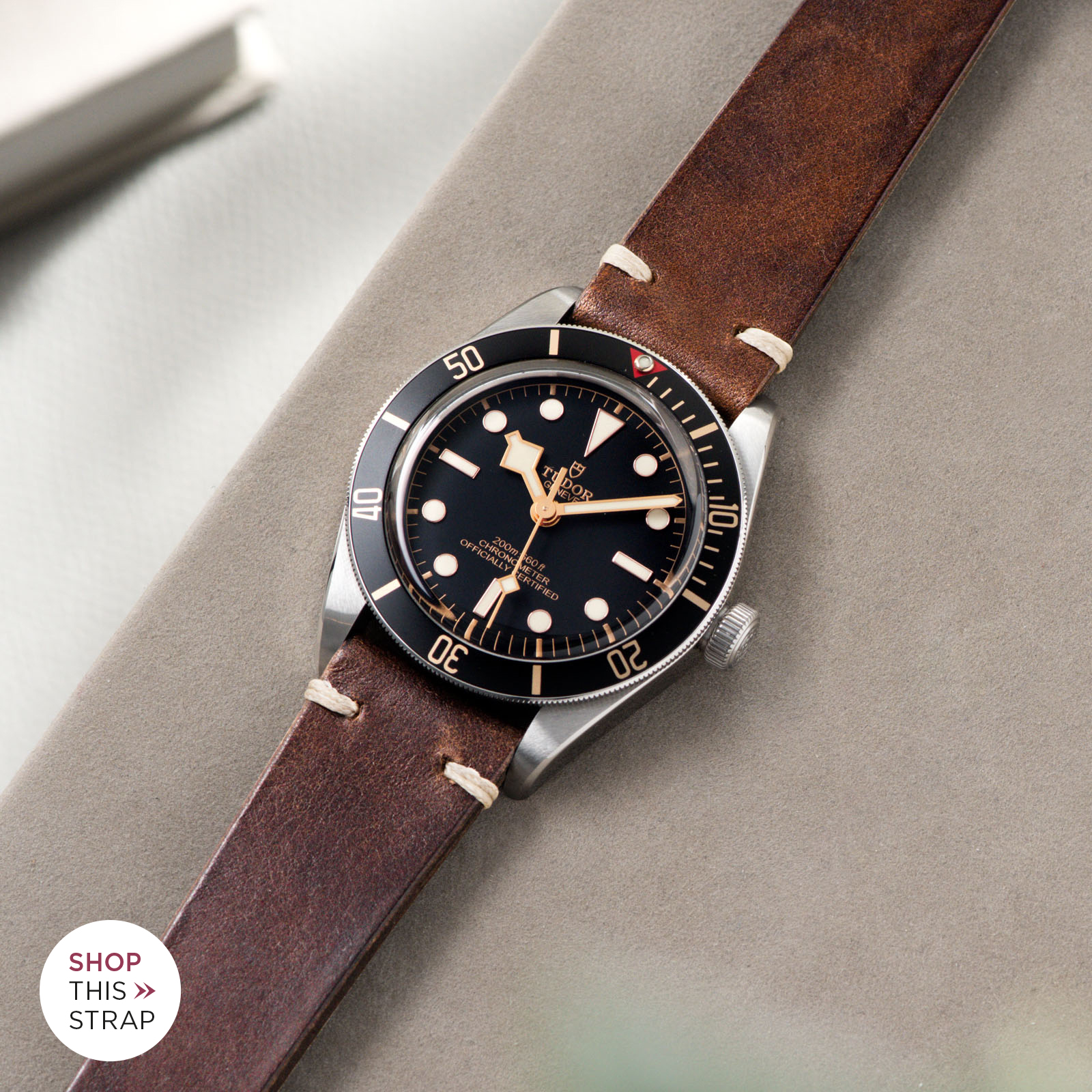 Bulang and Sons_Strap Guide_Tudor Black Bay 58_Lumberjack Brown Leather Watch Strap