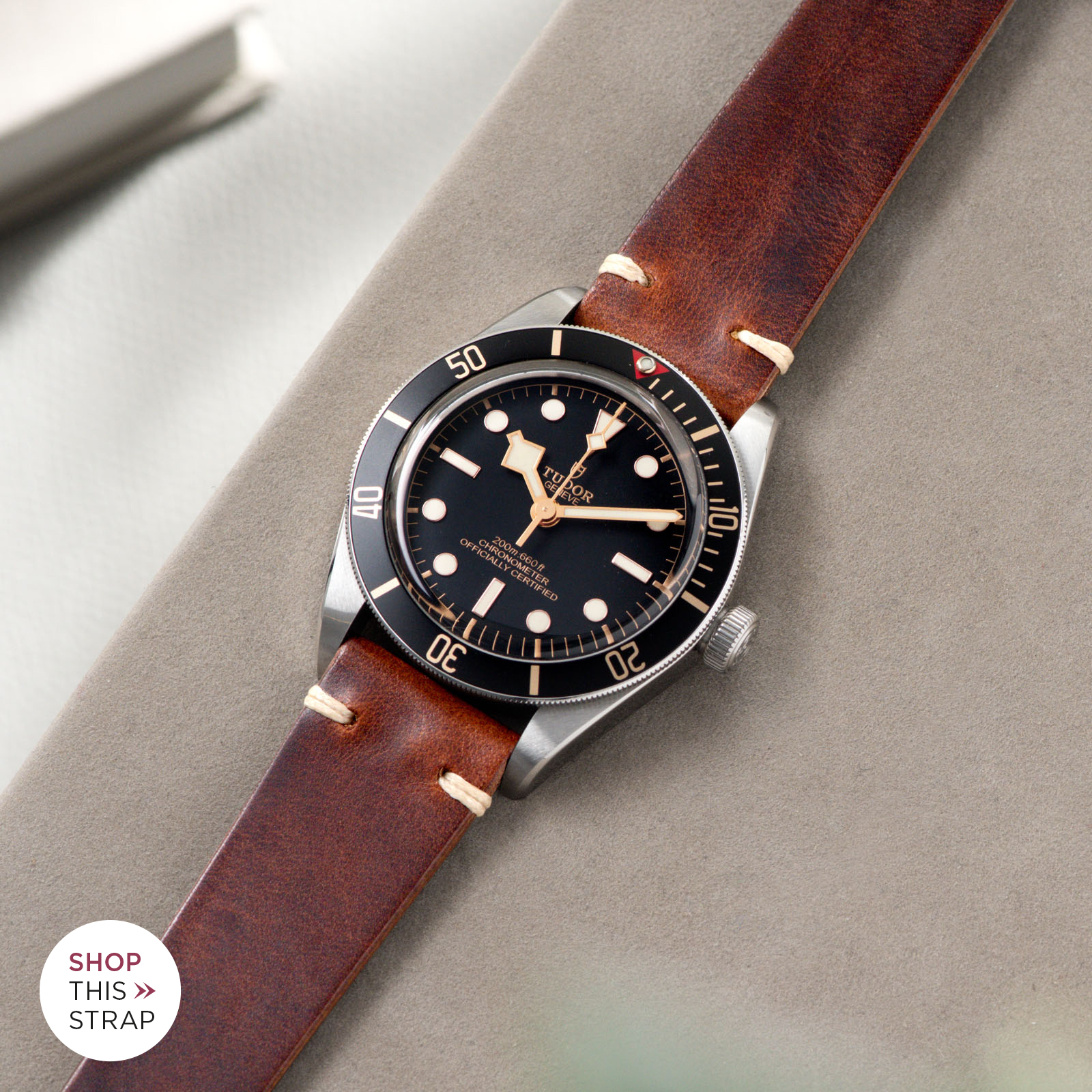 Bulang and Sons_Strap Guide_Tudor Black Bay 58_Siena Brown Leather Watch Strap