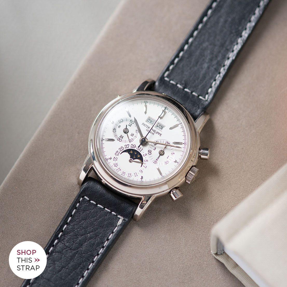 Bulang and Sons Strap Guide Patek Philippe 3970 G White Gold Perpetual Calendar
