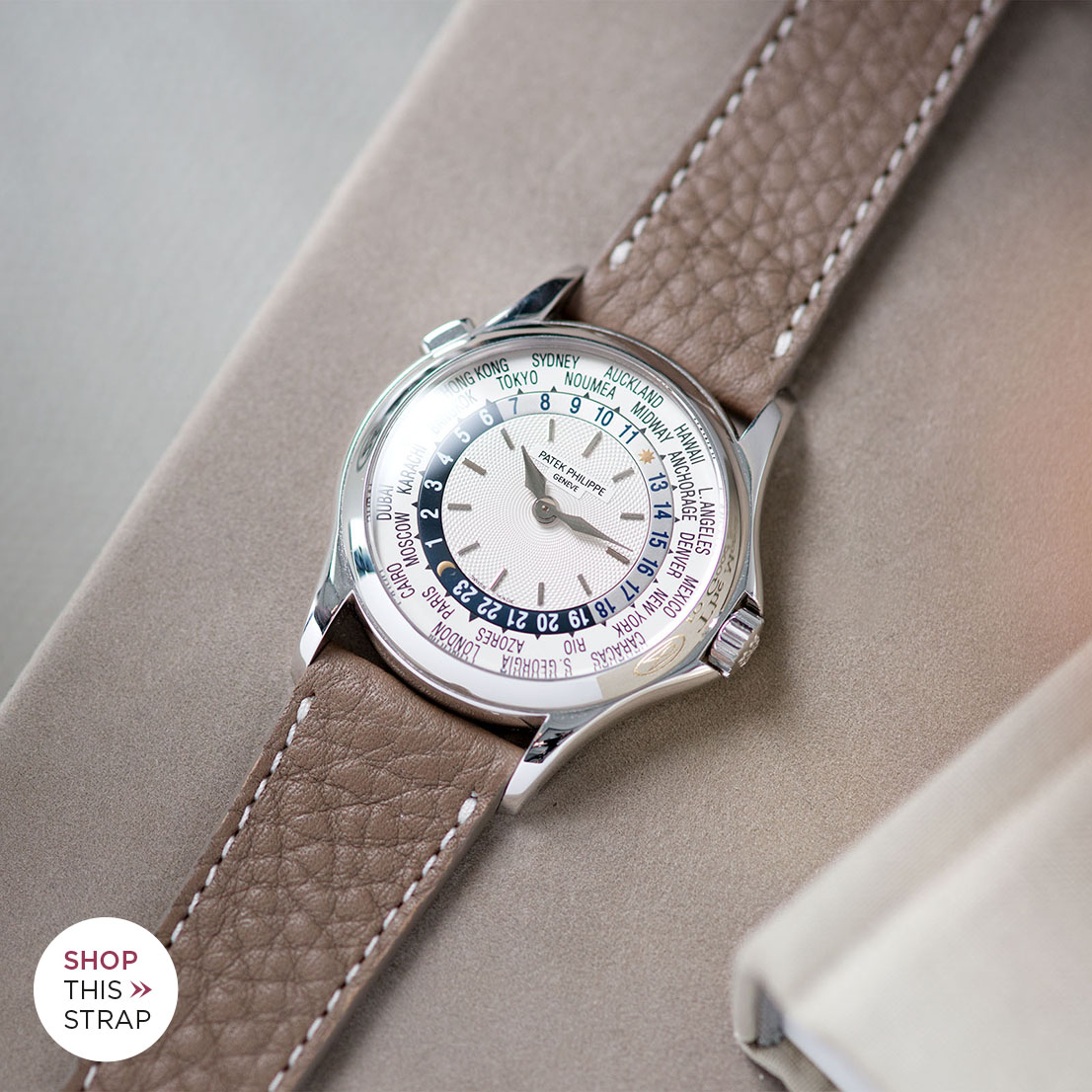 Bulang and Sons Strap Guide Patek Philippe 5110G White Gold World Timer