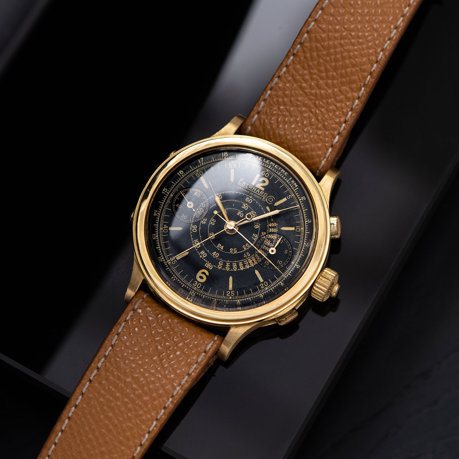 Yellow gold Eberhard split seconds you can buy here