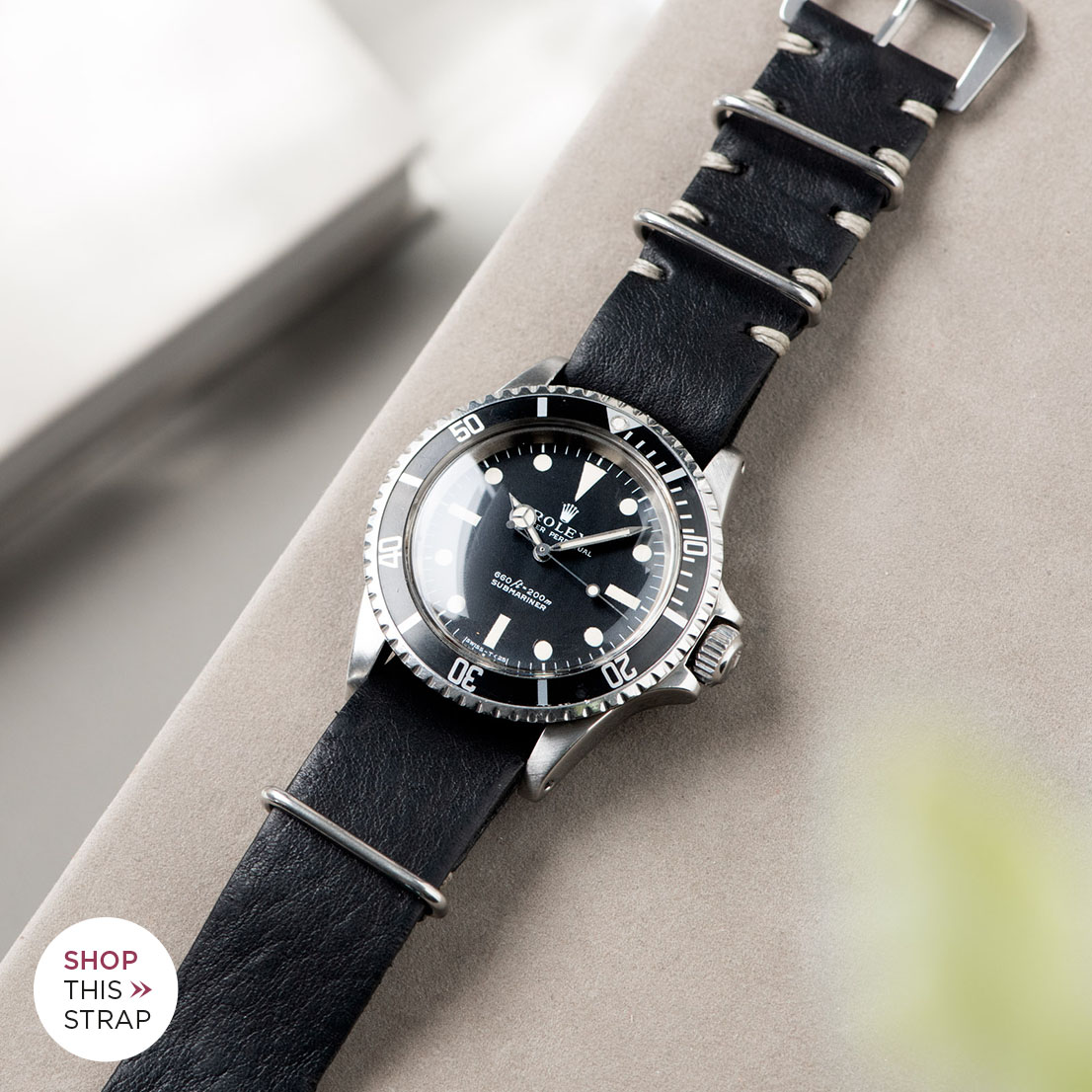 Bulang and Sons_Strap Guide_Rolex 5513 Submariner_BLACK NATO LEATHER WATCH STRAP