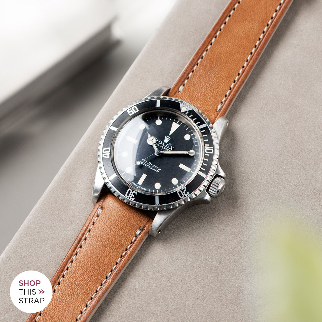 Bulang and Sons_Strap Guide_Rolex 5513 Submariner_CORSARO BROWN RETRO LEATHER WATCH STRAP