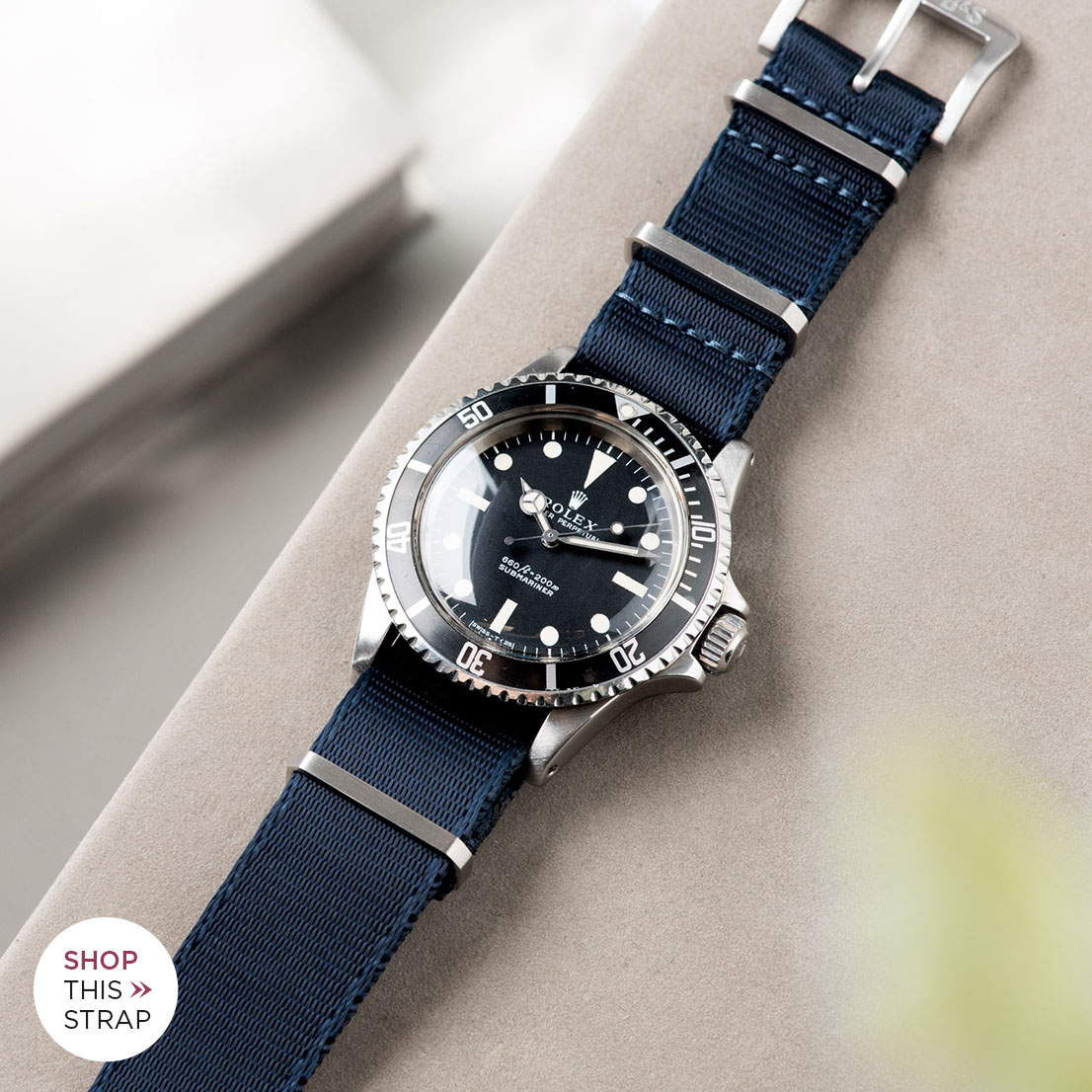 Bulang and Sons_Strap Guide_Rolex 5513 Submariner_DELUXE NYLON NATO WATCH STRAP NAVY BLUE