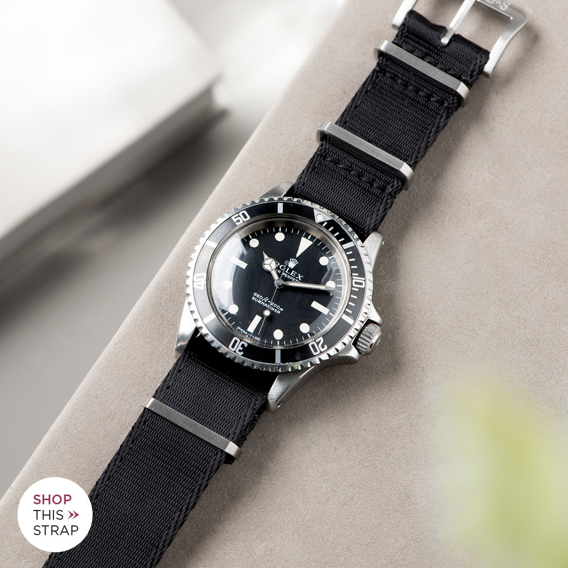Bulang and Sons_Strap Guide_Rolex 5513 Submariner_DELUXE NYLON NATO WATCH STRAP PURE BLACK_21403