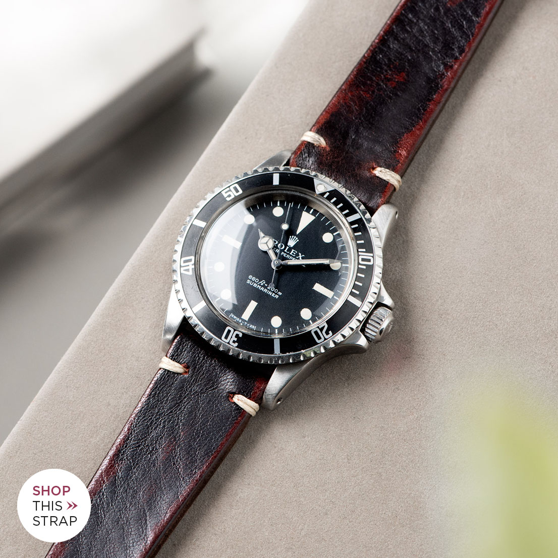 Bulang and Sons_Strap Guide_Rolex 5513 Submariner_DIABLO BLACK LEATHER WATCH STRAP