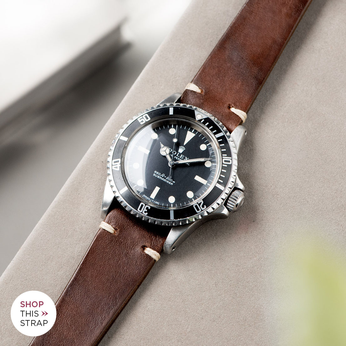 Bulang and Sons_Strap Guide_Rolex 5513 Submariner_LUMBERJACK BROWN LEATHER WATCH STRAP