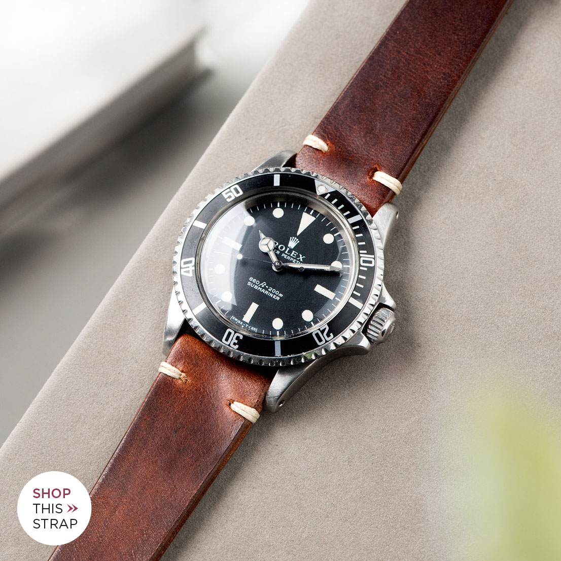 Bulang and Sons_Strap Guide_Rolex 5513 Submariner_SIENA BROWN LEATHER WATCH STRAP