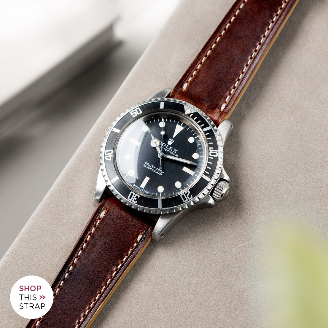 Bulang and Sons_Strap Guide_Rolex 5513 Submariner_SIENA BROWN RETRO LEATHER WATCH STRAP