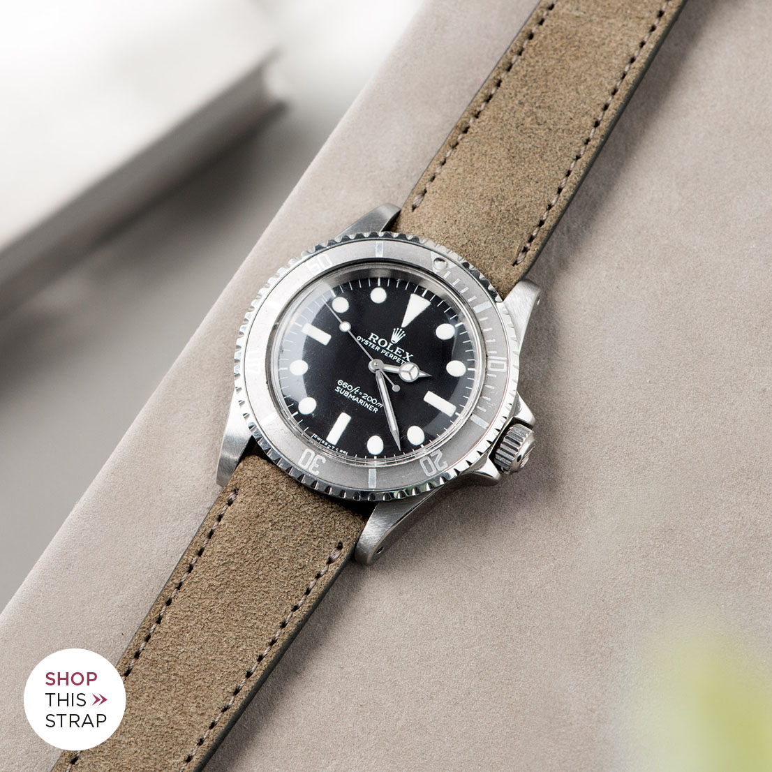 Bulang and Sons_Strap Guide_Rolex Submariner 5513 Faded_DARK GREY RUGGED LEATHER WATCH STRAP