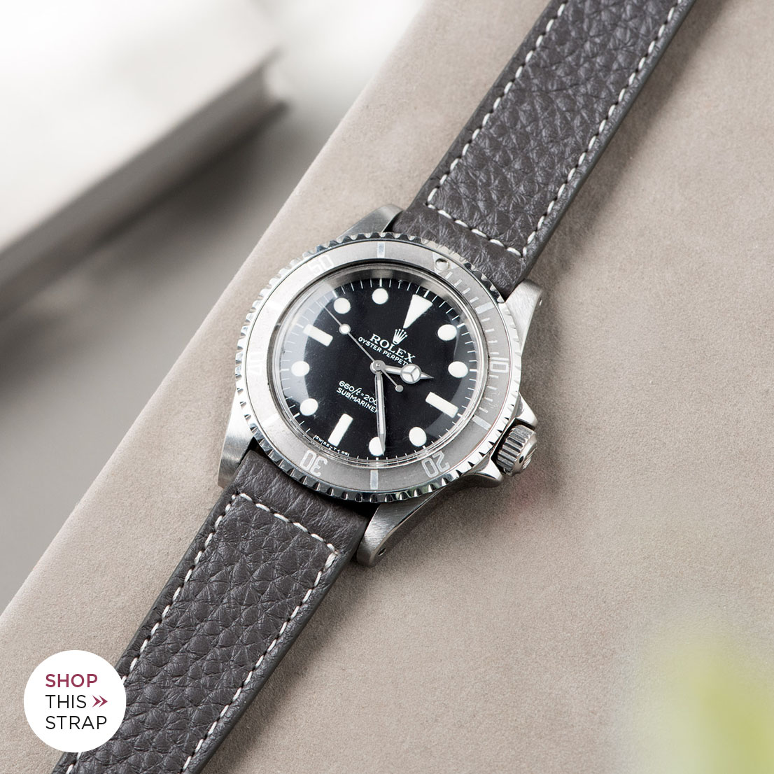 Bulang and Sons_Strap Guide_Rolex Submariner 5513 Faded_ELEPHANT GREY LEATHER WATCH
