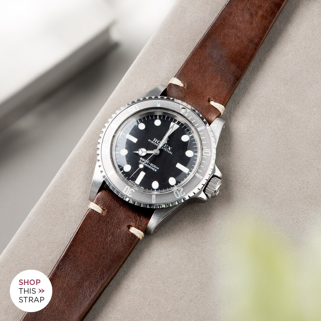 Bulang and Sons_Strap Guide_Rolex Submariner 5513 Faded_LUMBERJACK BROWN LEATHER WATCH STRAP