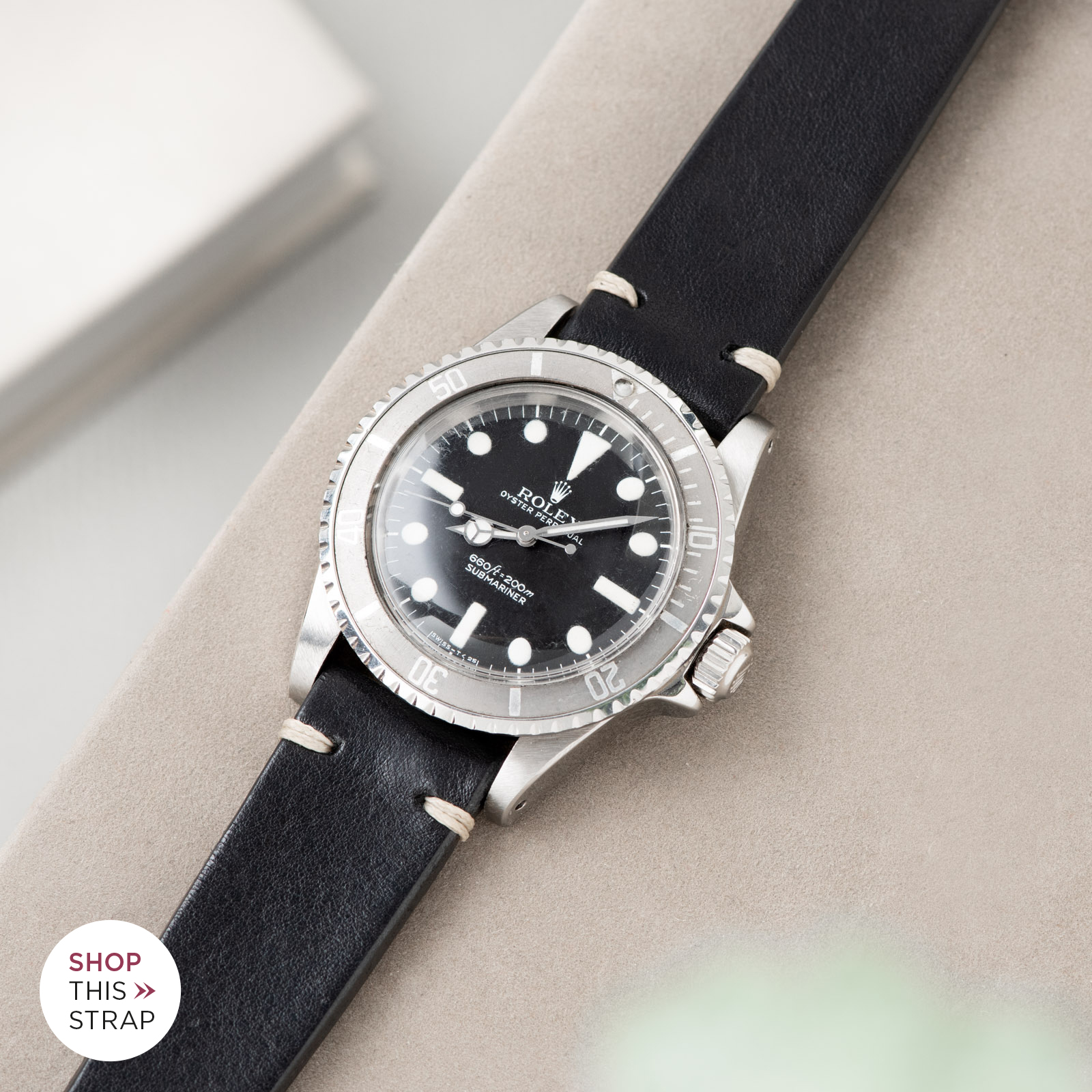 Bulang and Sons_Strap Guide_Rolex Submariner 5513_Black Leather Watch Strap