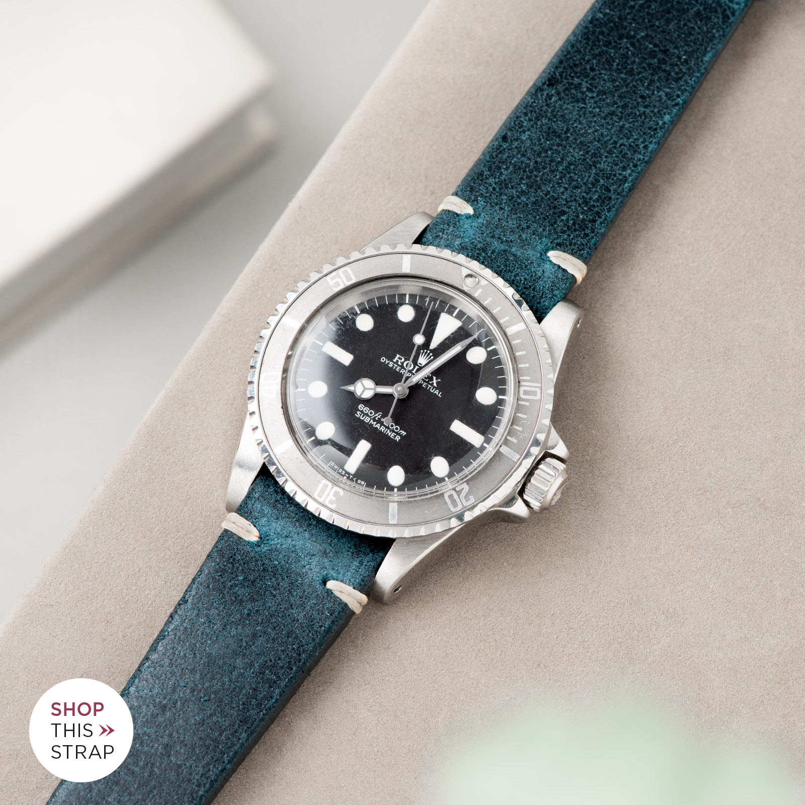Bulang and Sons_Strap Guide_Rolex Submariner 5513_Crackle Copper Green Leather Watch Strap