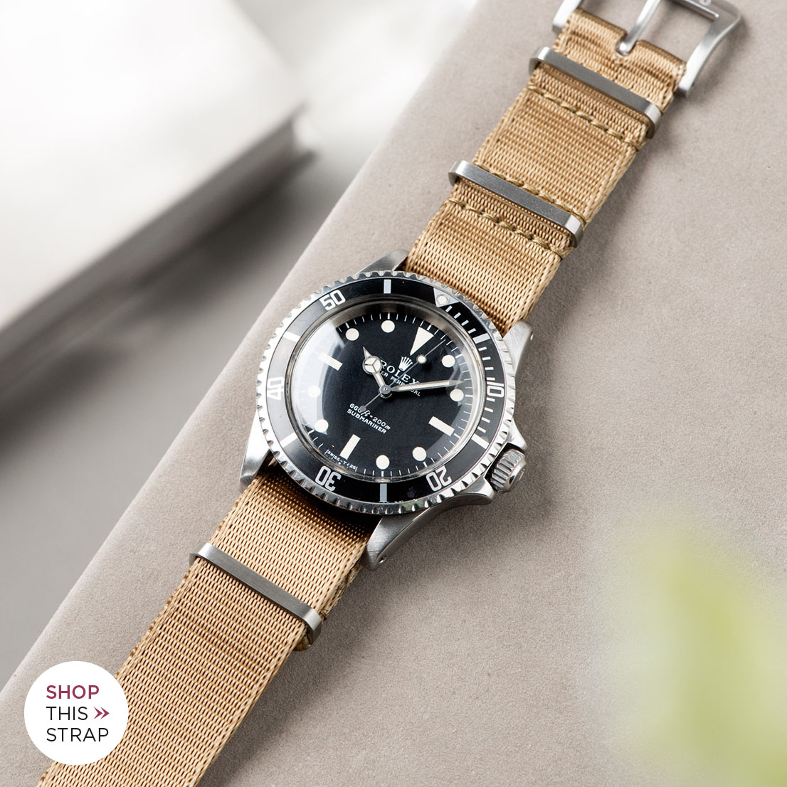 Bulang and Sons_Strap guide_Rolex 5513 Submariner_DELUXE NYLON NATO WATCH STRAP COYOTE BROWN