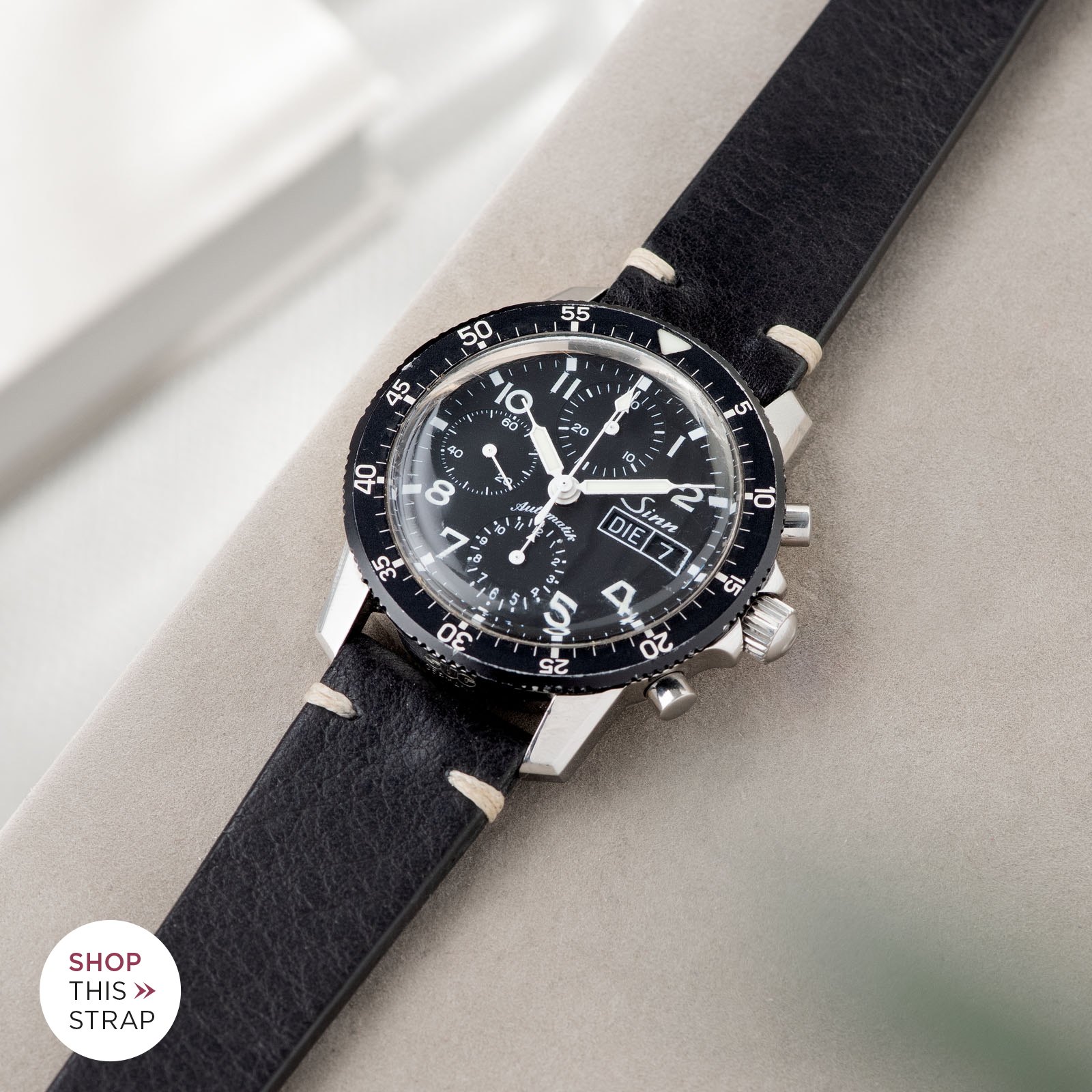Bulang and Sons_Strap Guide_Sinn 103_Black Leather Watch Strap