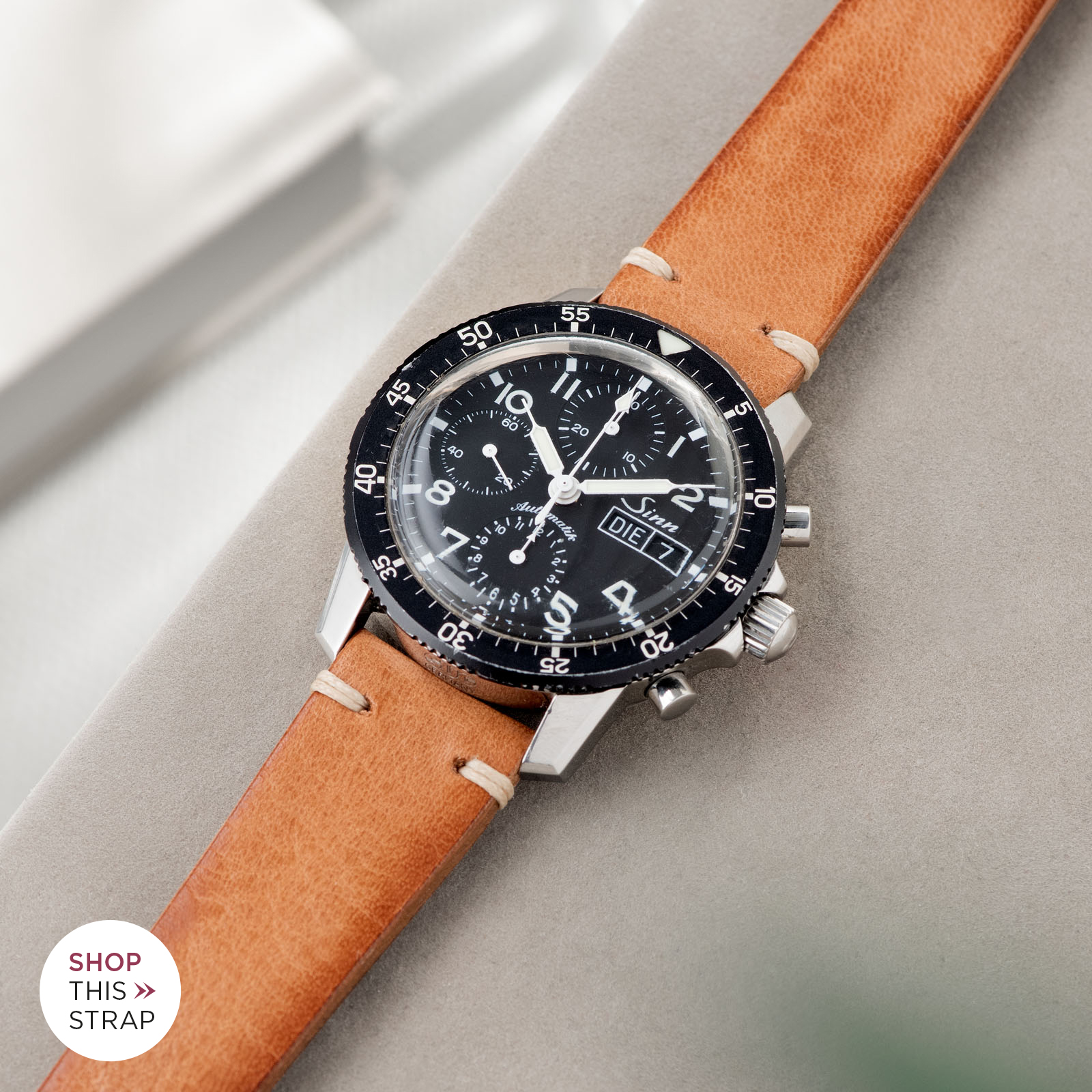 Bulang and Sons_Strap Guide_Sinn 103_Caramel Brown Leather Watch Strap