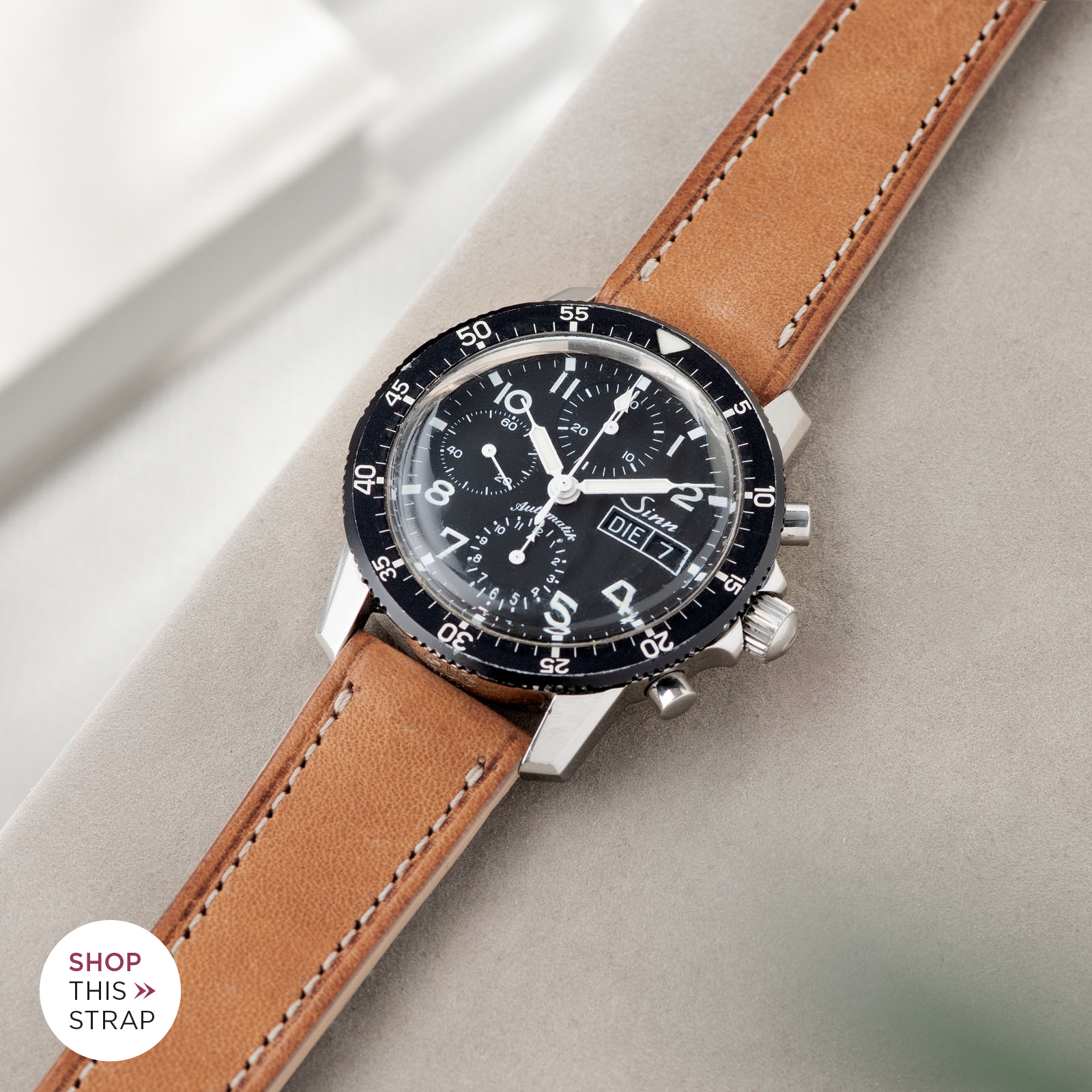 Bulang and Sons_Strap Guide_Sinn 103_Cosaro Brown Retro Leather Watch Strap
