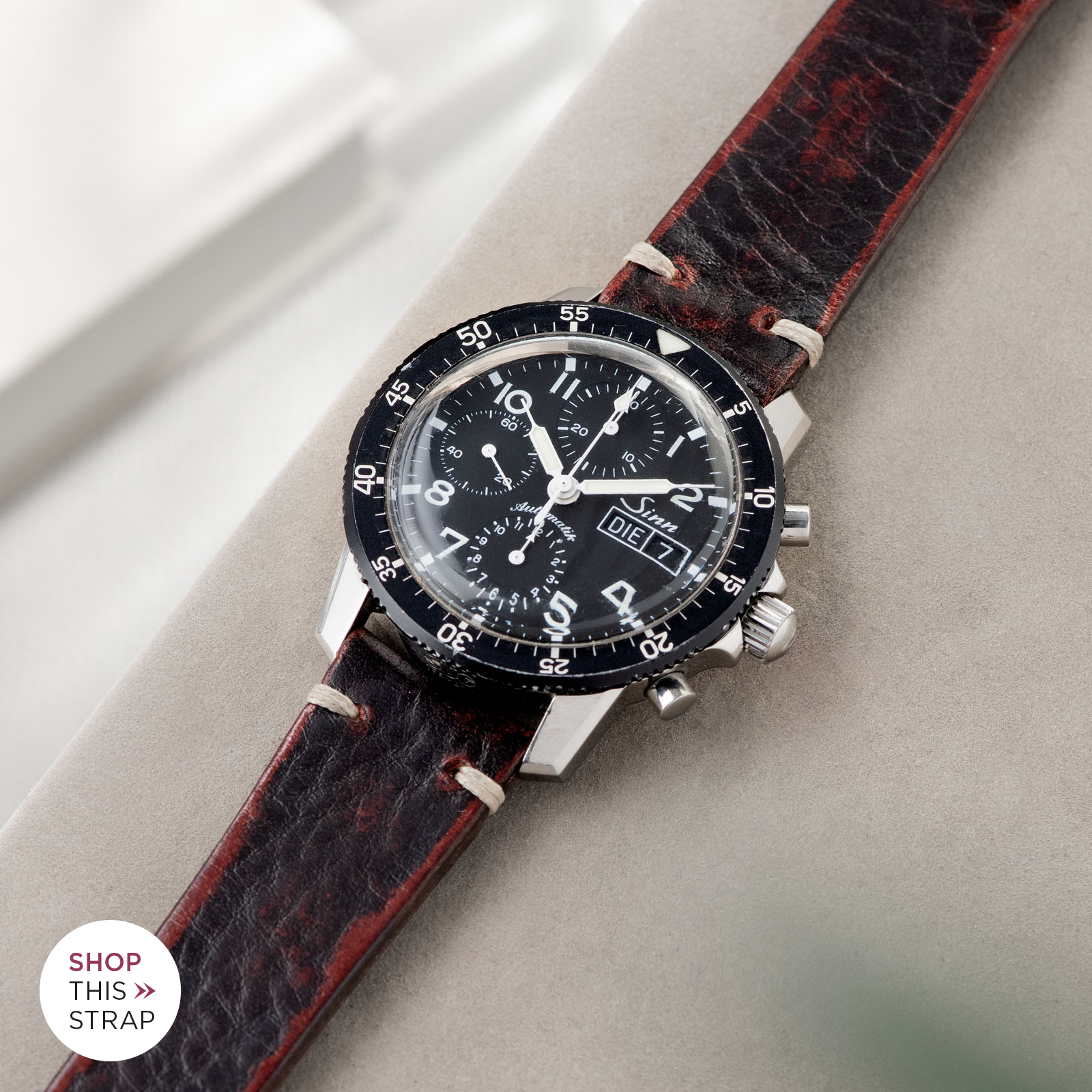 Bulang and Sons_Strap Guide_Sinn 103_Diablo Black Leather Watch Strap