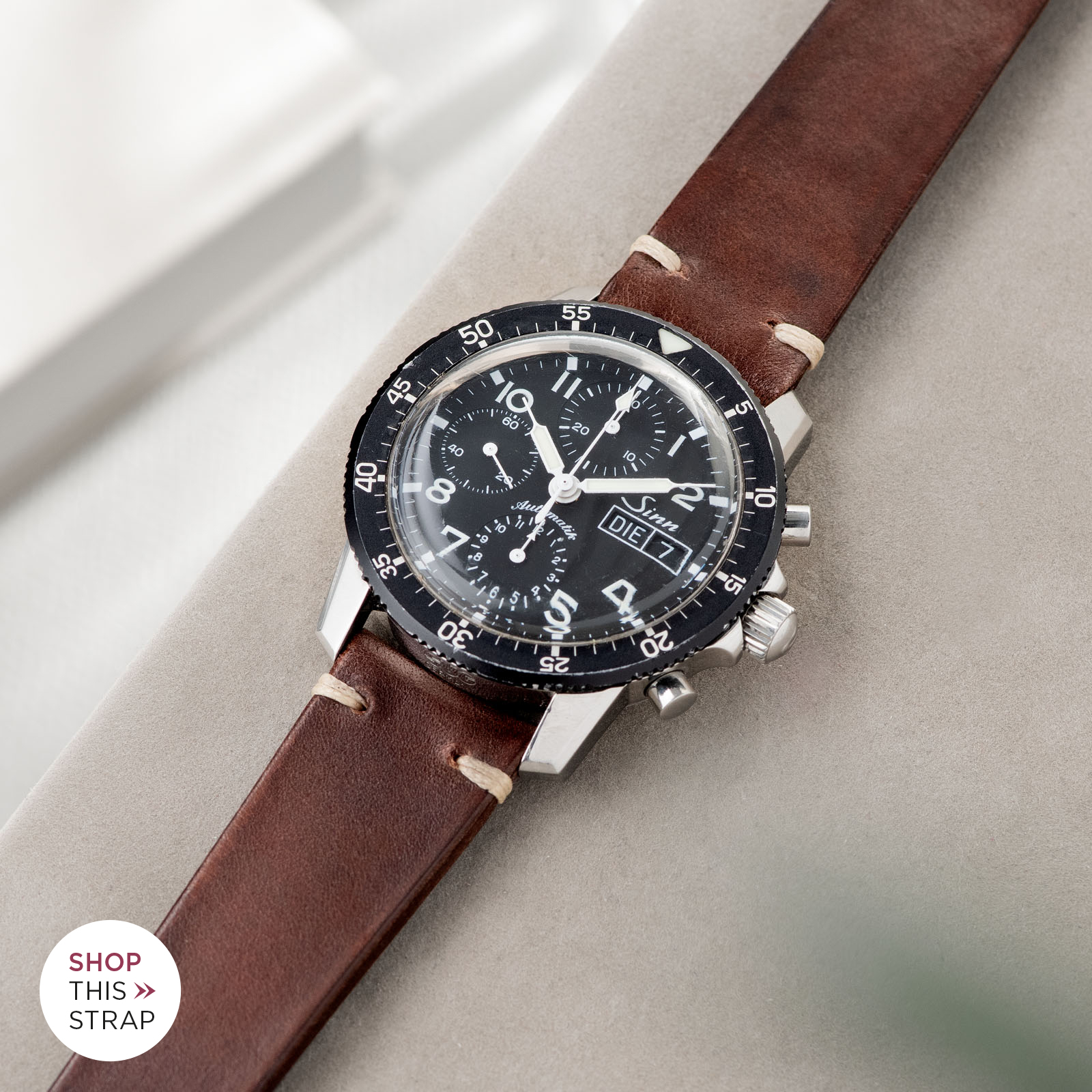 Bulang and Sons_Strap Guide_Sinn 103_Lumberjack Brown Leather Watch Strap