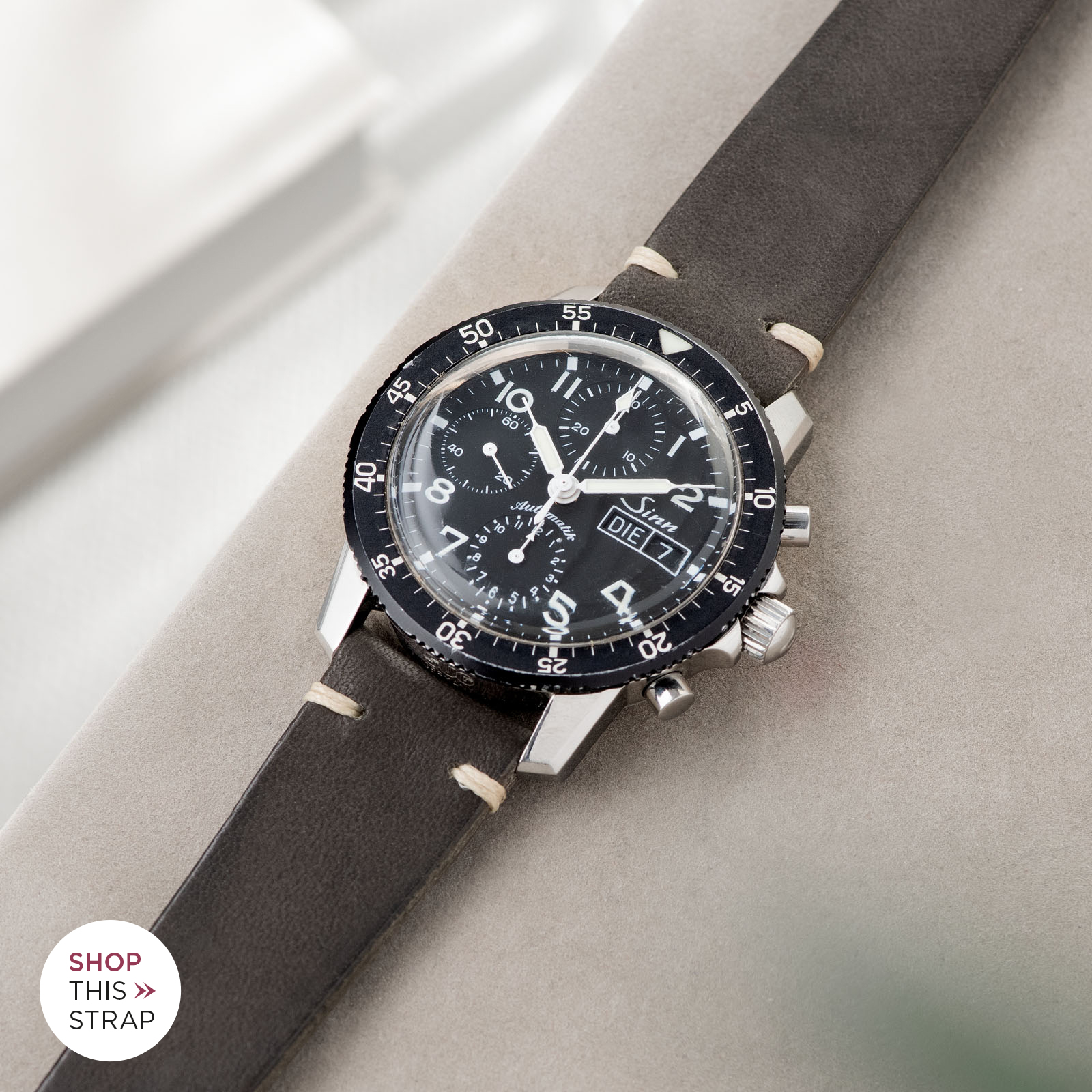 Bulang and Sons_Strap Guide_Sinn 103_Piombo Grey Leather Watch Strap