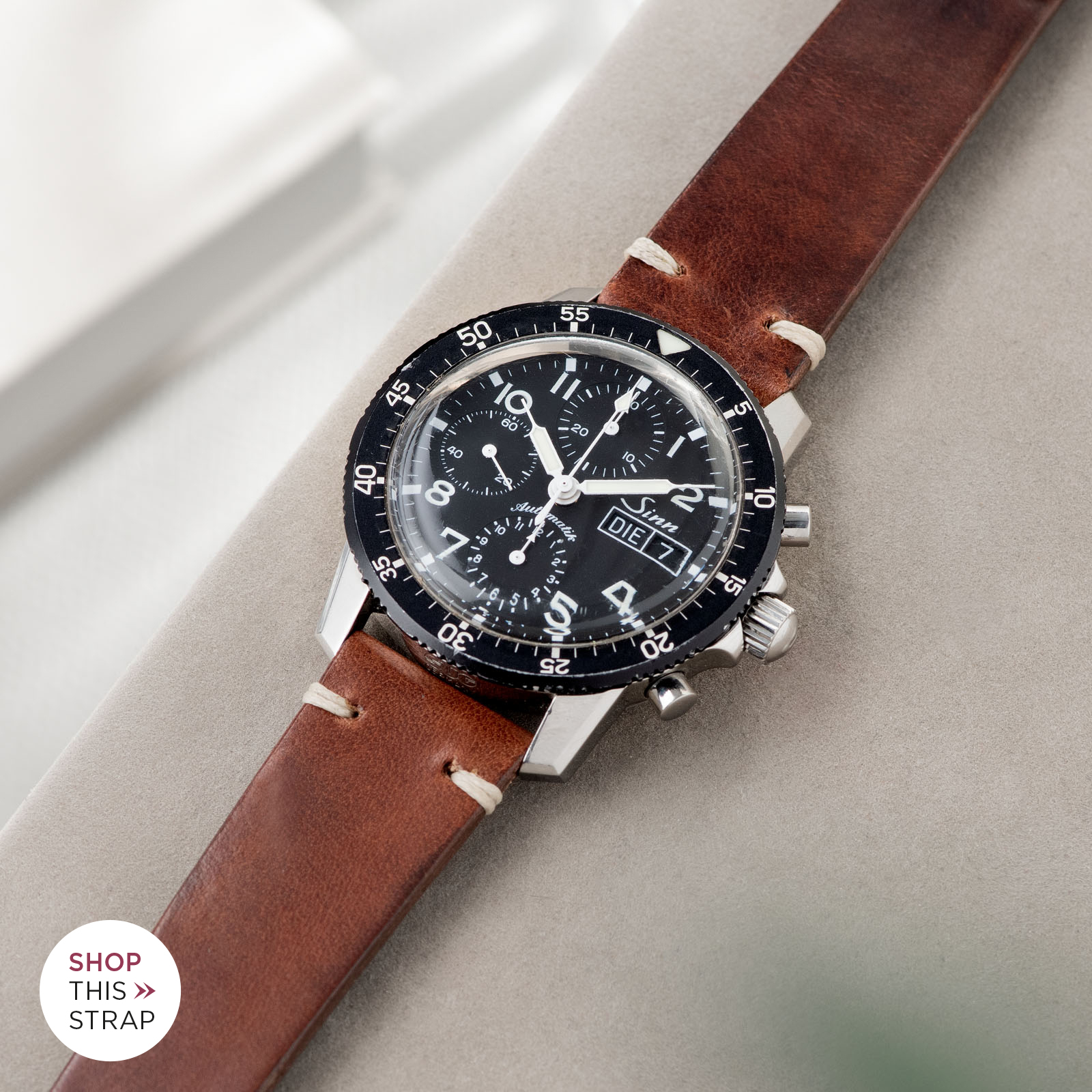 Bulang and Sons_Strap Guide_Sinn 103_Siena Brown Leather Watch Strap