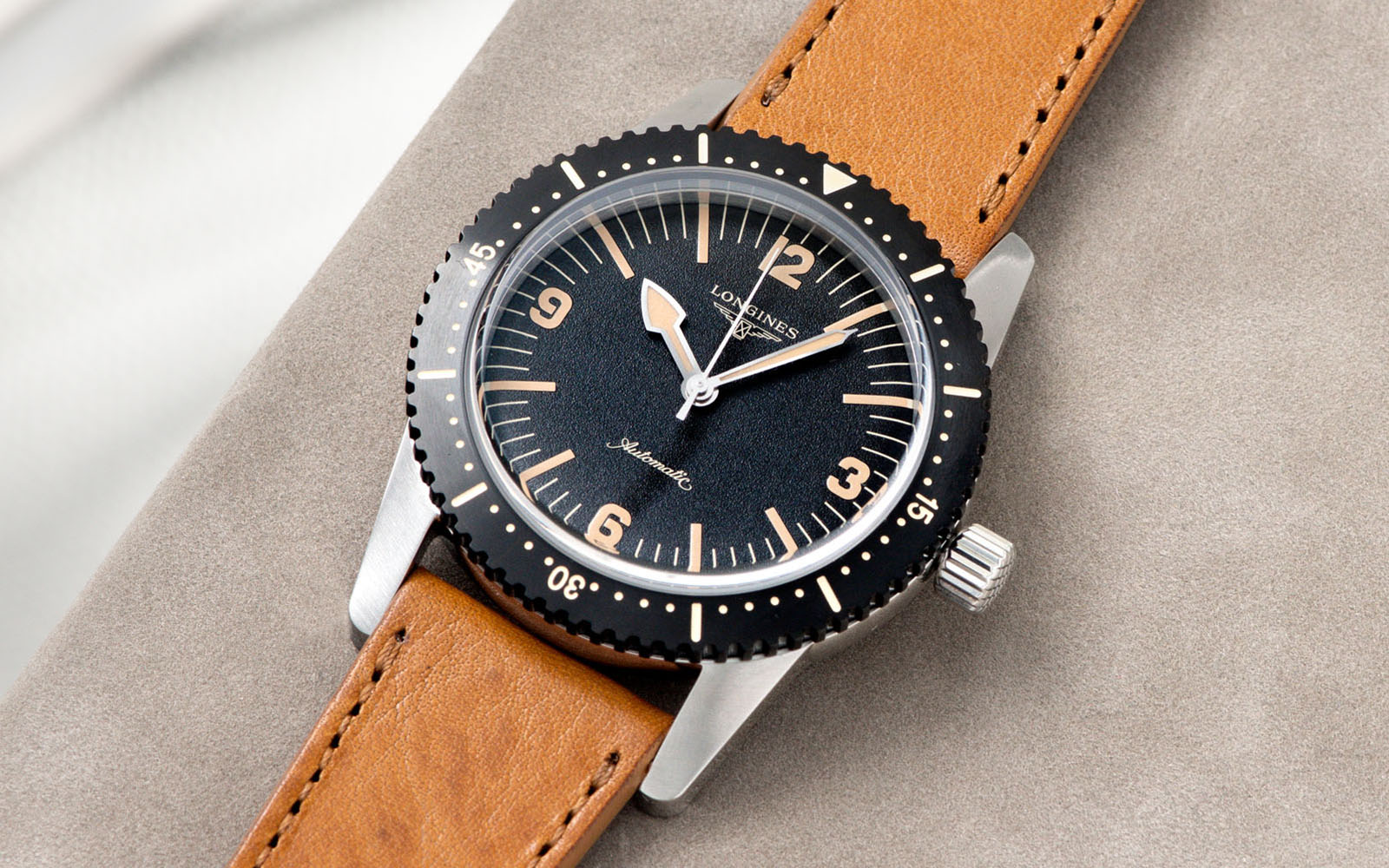 Bulang and Sons_Strap Guide_Longines Skin Diver_Gilt Brown tonal Leather Watch Strap_Banner