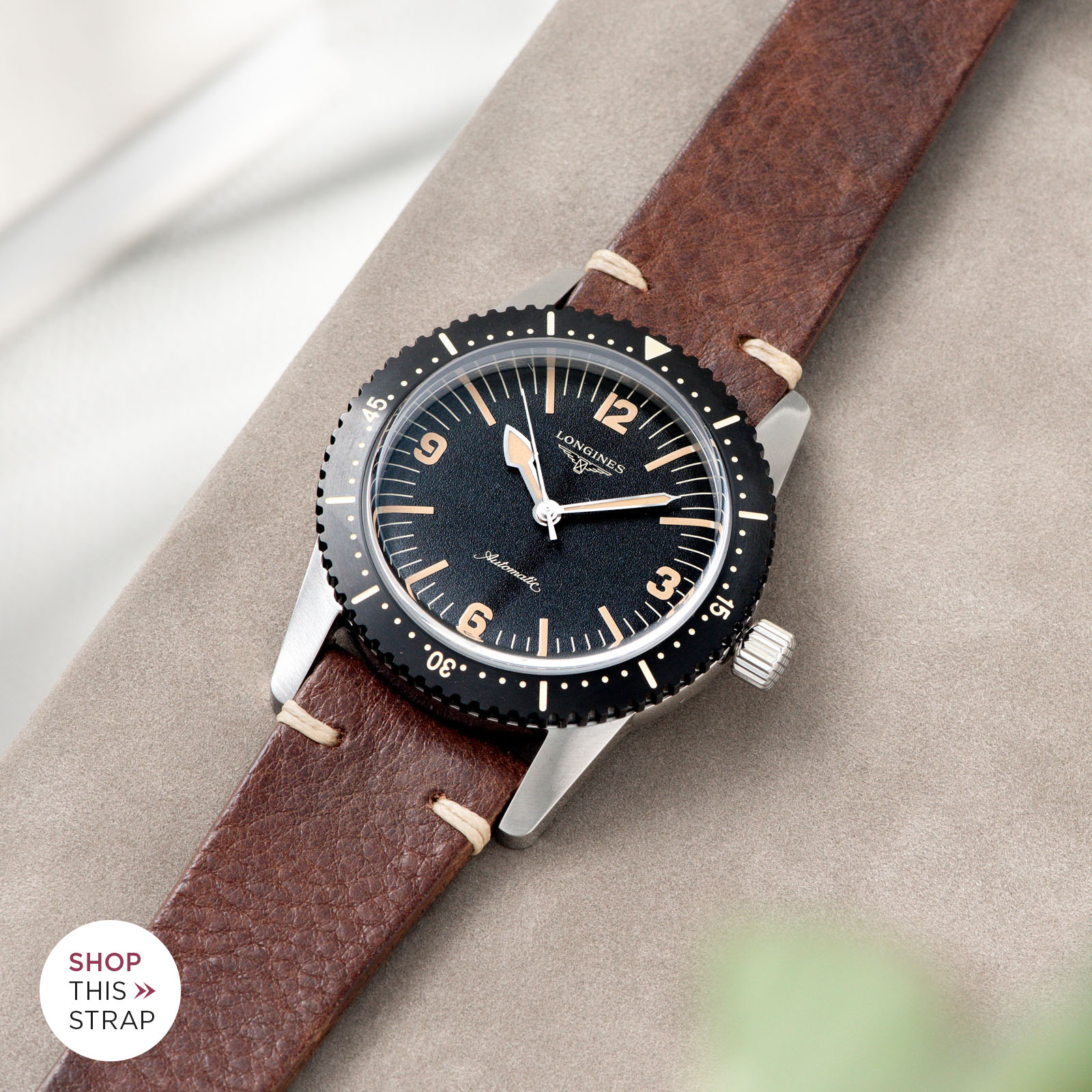 Bulang and Sons_Strap Guide_Longines Skin Diver_Lumberjack Brown Leather Watch Strap