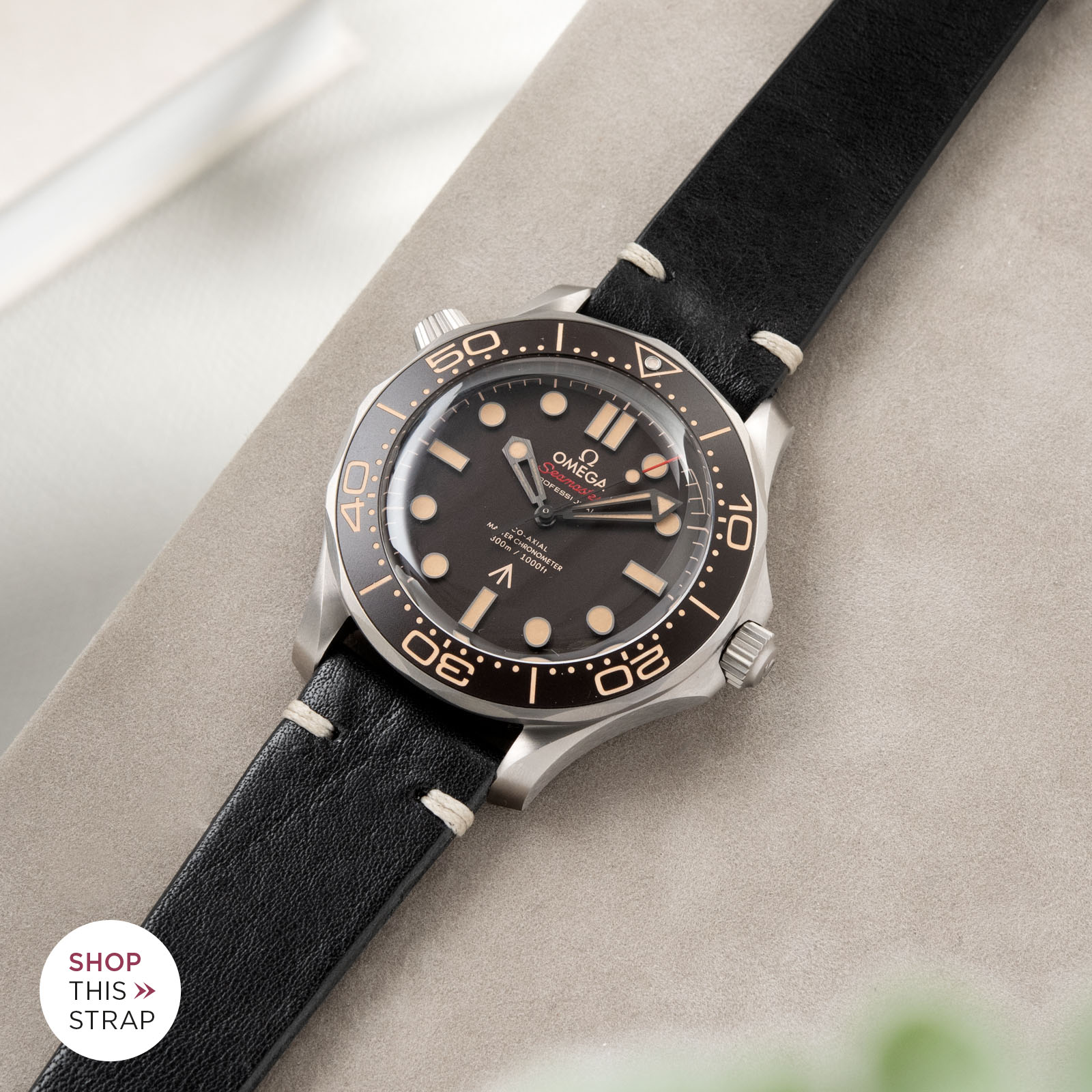 Bulang and Sons_Strapguide_Omega Seamaster_Black Leather Watch Strap