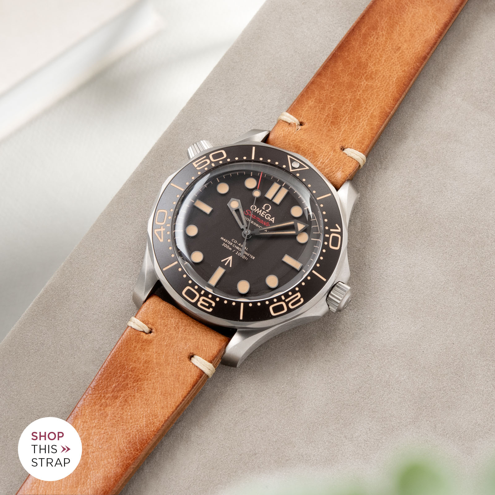 Bulang and Sons_Strapguide_Omega Seamaster_Caramel Brown Leather Watch Strap