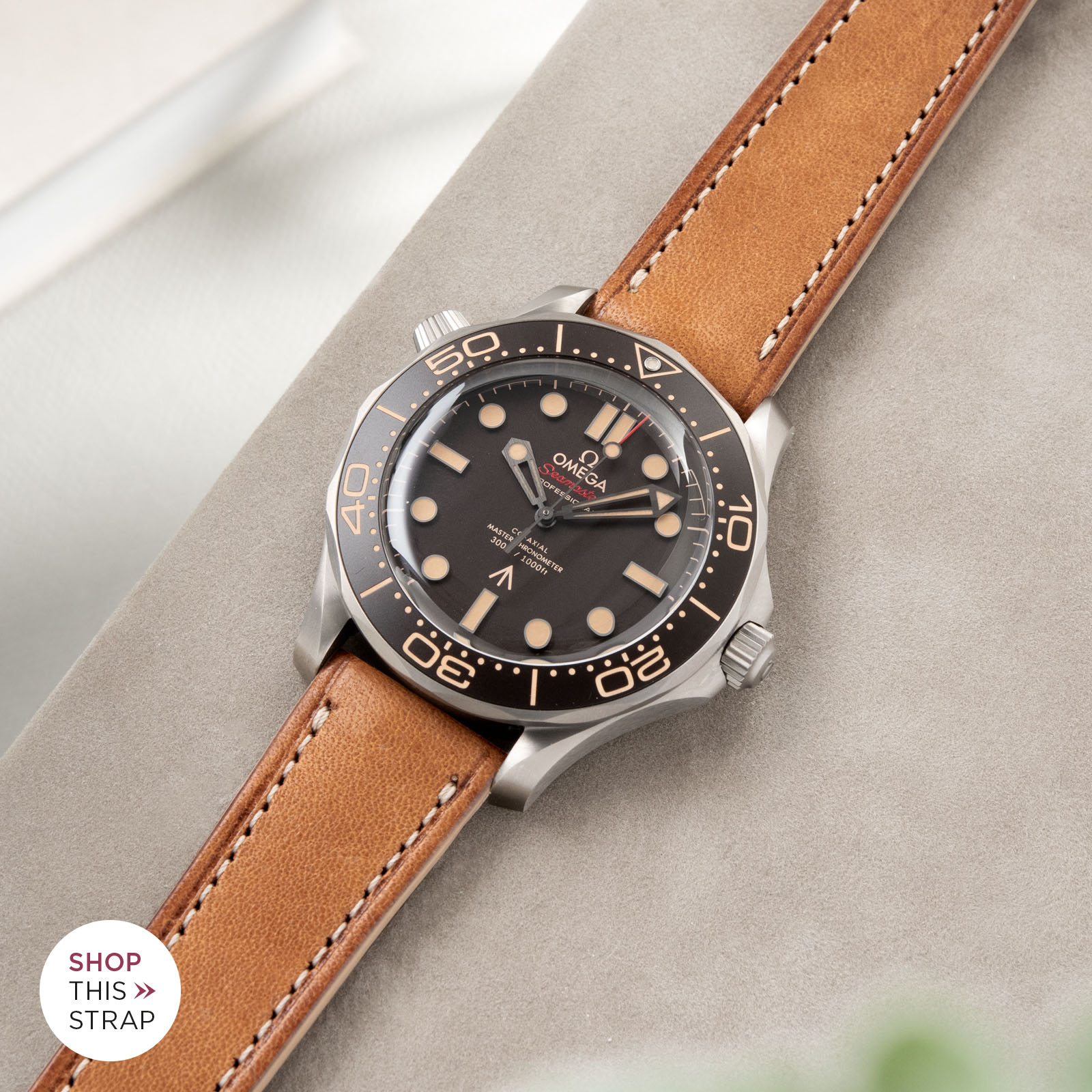 Bulang and Sons_Strapguide_Omega Seamaster_Corsaro Brown Retro Leather Watch Strap
