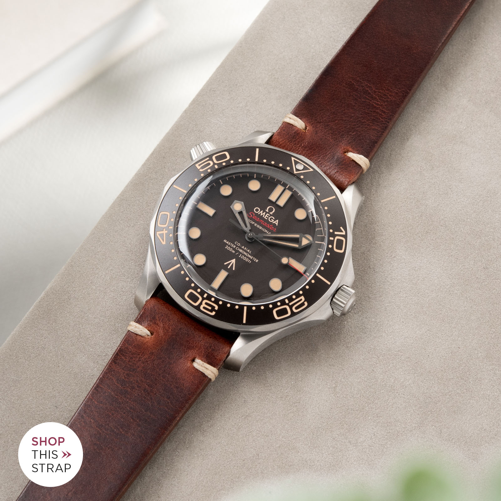 Bulang and Sons_Strapguide_Omega Seamaster_Siena Brown Leather Watch Strap
