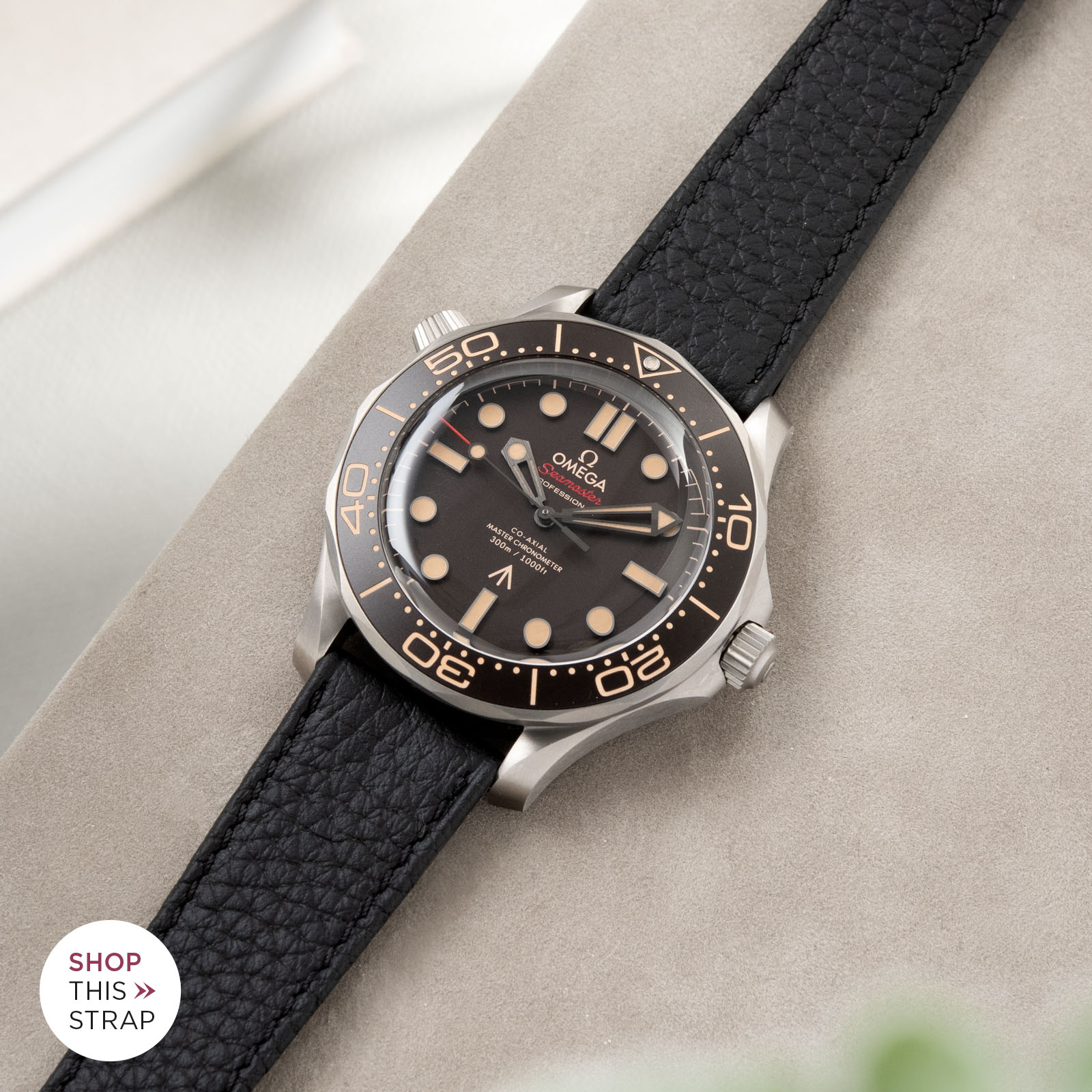 Bulang and Sons_Strapguide_Omega Seamaster_Taurillon Black Speedy Watch Strap