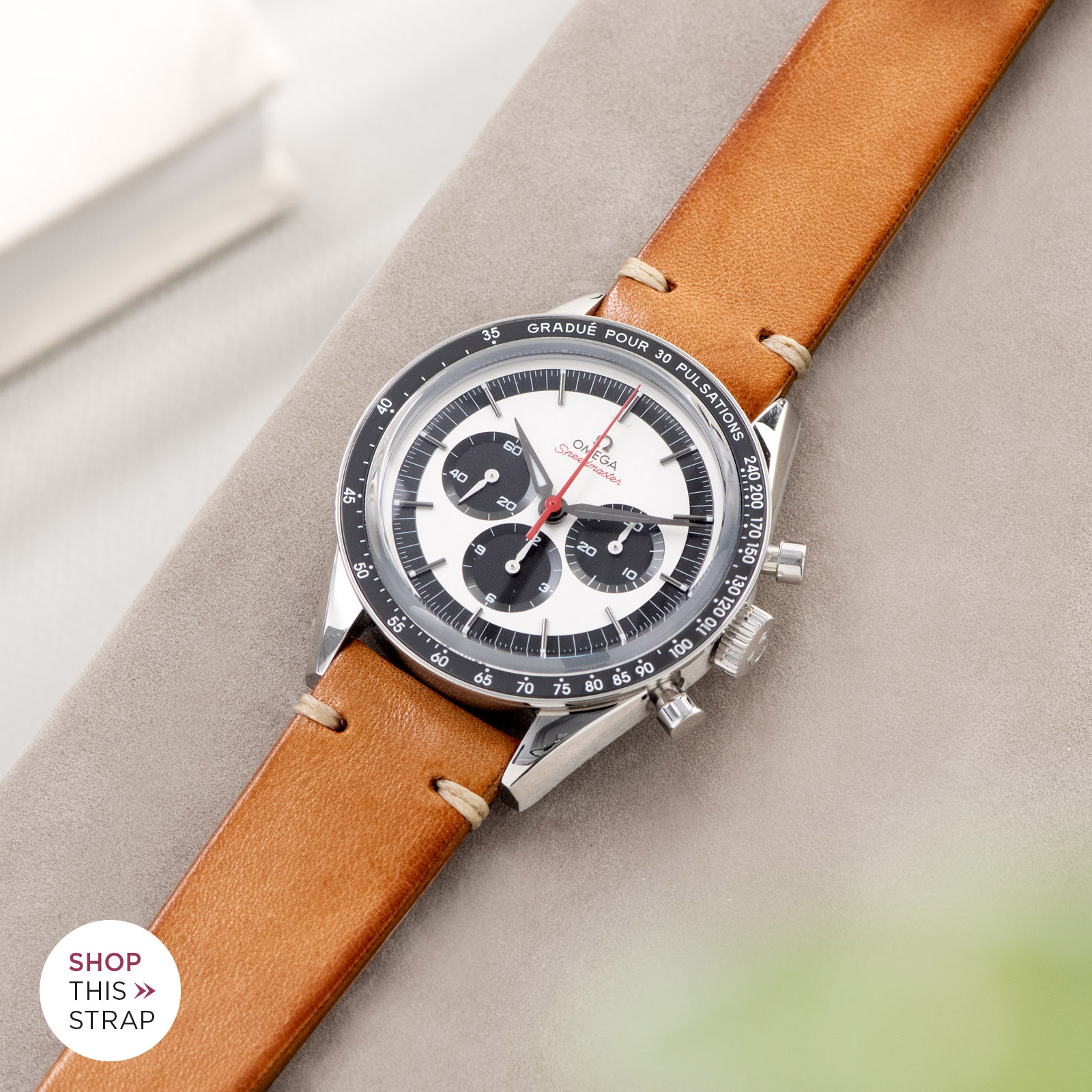 Bulang and Sons_Strap Guide_Omega Speedmaster 2998_Caramel Brown Leather Watch Strap