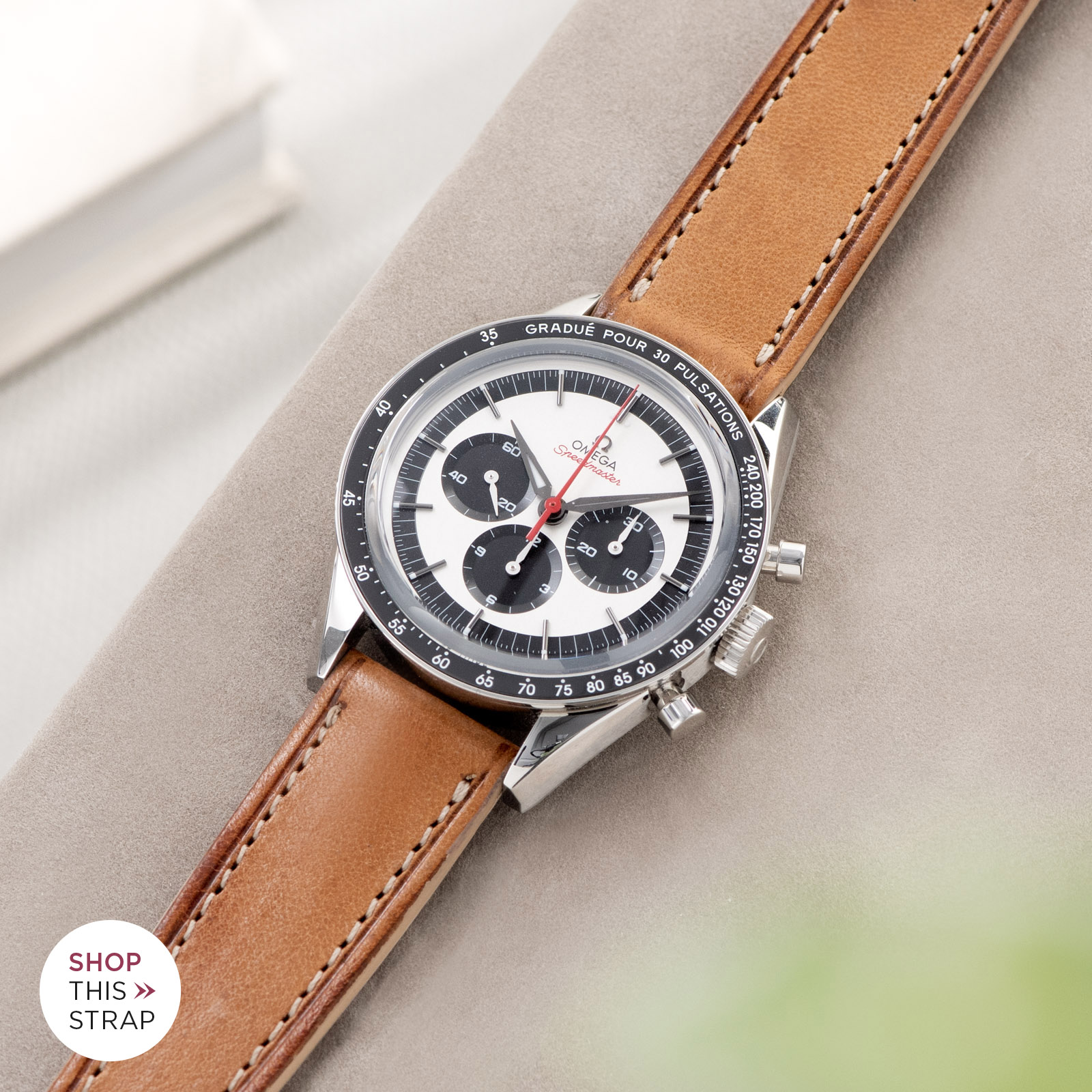 Bulang and Sons_Strap Guide_Omega Speedmaster 2998_Cosaro Brown Retro Leather Watch Strap