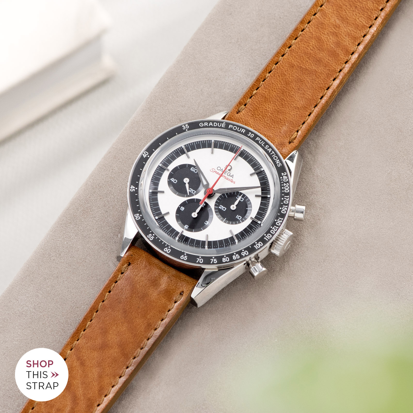 Bulang and Sons_Strap Guide_Omega Speedmaster 2998_Gilt Brown Tonal Leather Watch Strap
