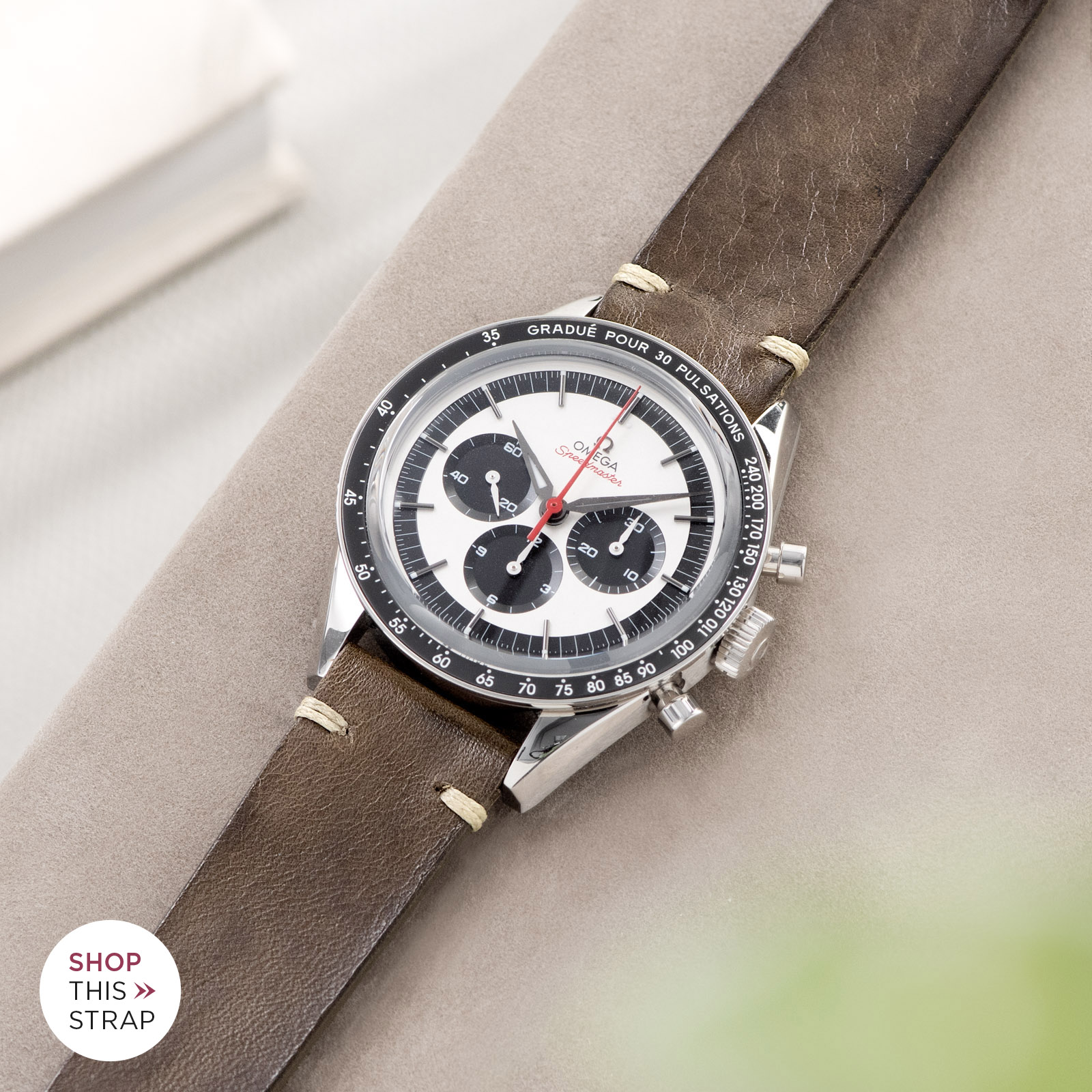 Bulang and Sons_Strap Guide_Omega Speedmaster 2998_Smokeyjack Grey Leather Watch Strap