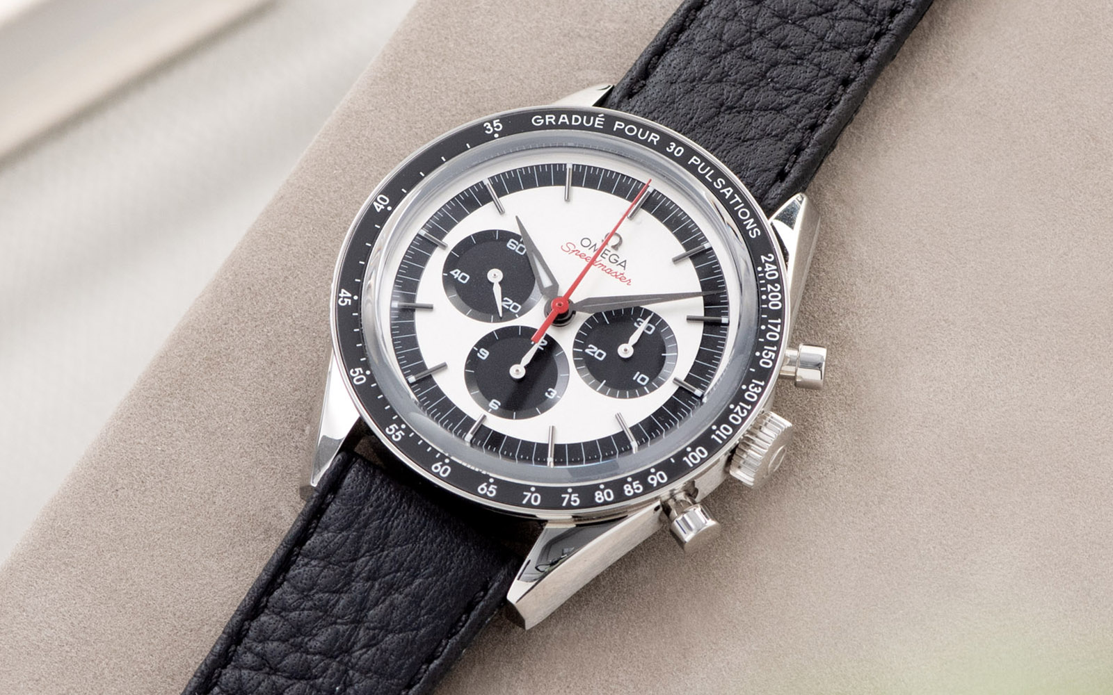 Bulang and Sons_Strap Guide_Omega Speedmaster 2998_Taurillon Black Speedy Leather Watch Strap