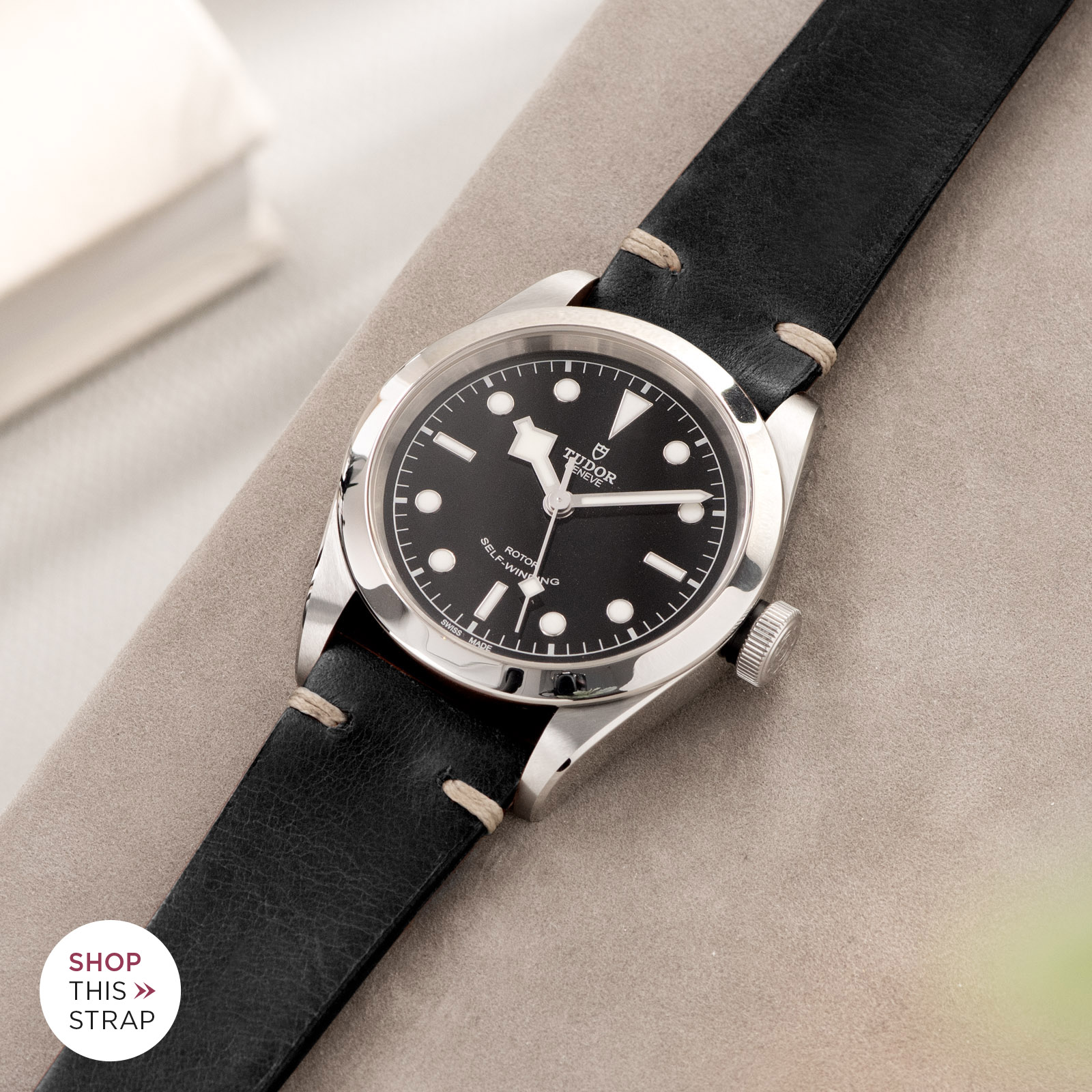 Bulang and Sons_Strap Guide_Tudor Heritage BlackBay 411_Black Leather Watch Strap