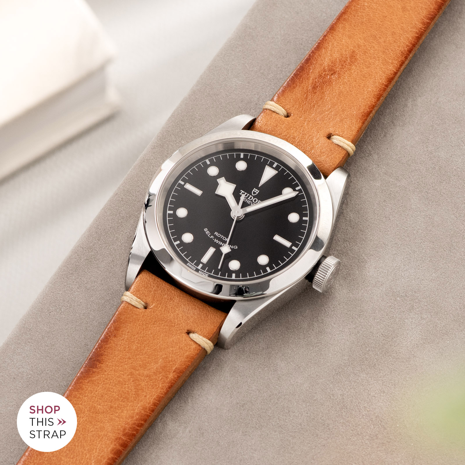 Bulang and Sons_Strap Guide_Tudor Heritage BlackBay 411_Caramel Brown Leather Watch Strap