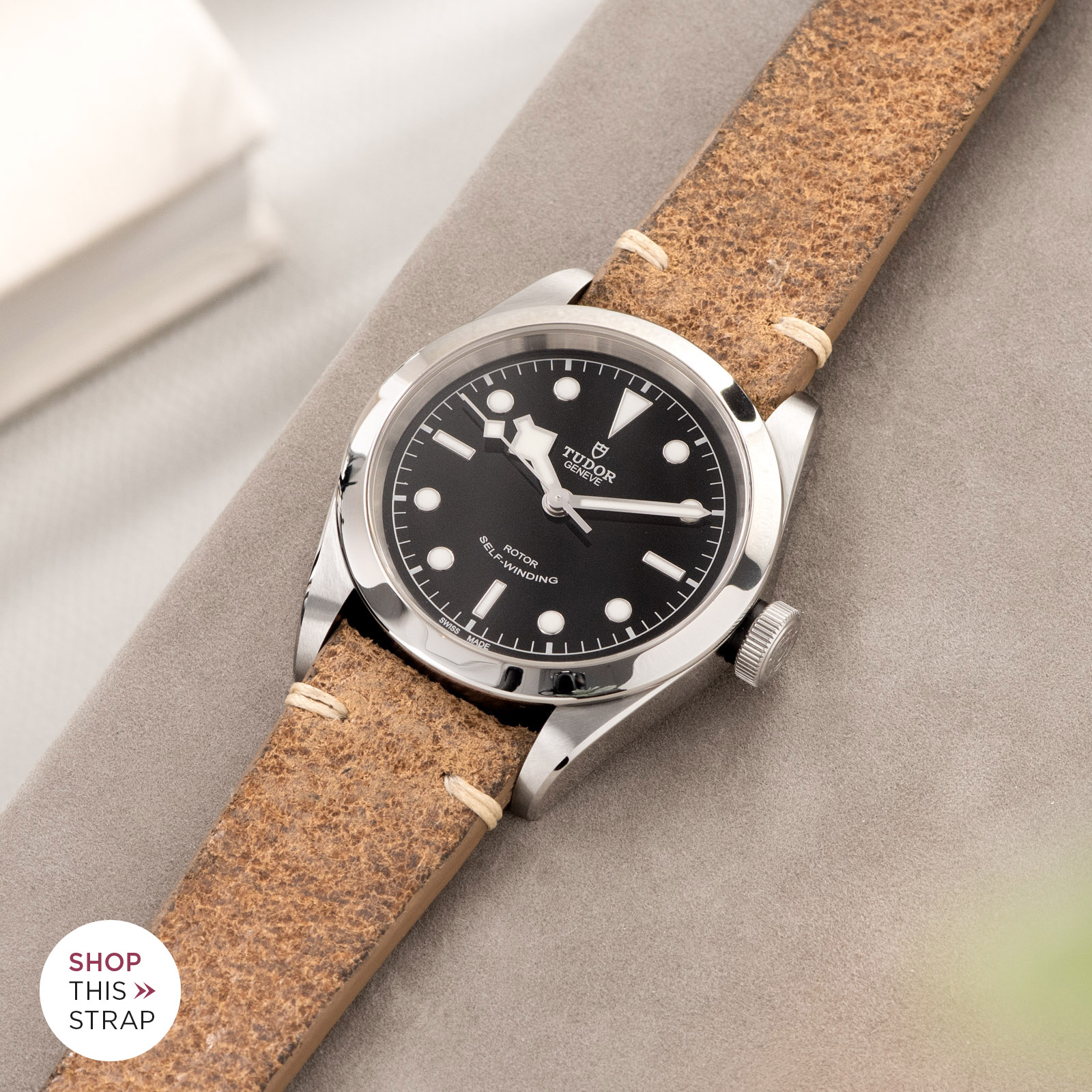 Bulang and Sons_Strap Guide_Tudor Heritage BlackBay 411_Crackle Brown Leather Watch Strap
