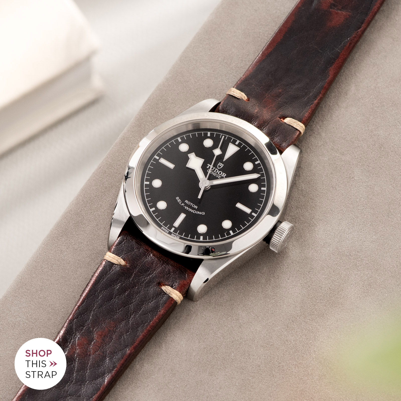 Bulang and Sons_Strap Guide_Tudor Heritage BlackBay 411_Diablo Black Leather Watch Strap