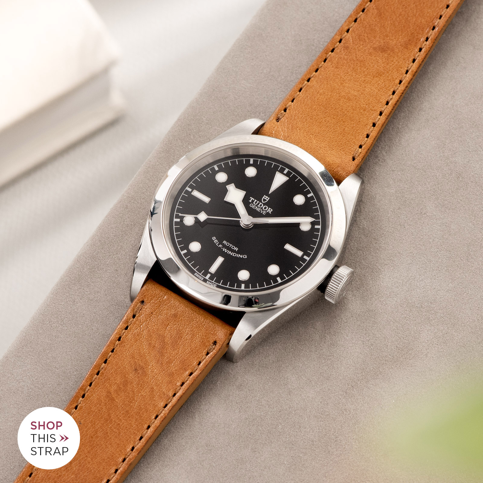 Bulang and Sons_Strap Guide_Tudor Heritage BlackBay 411_Gilt Brown Tonal Leather Watch Strap