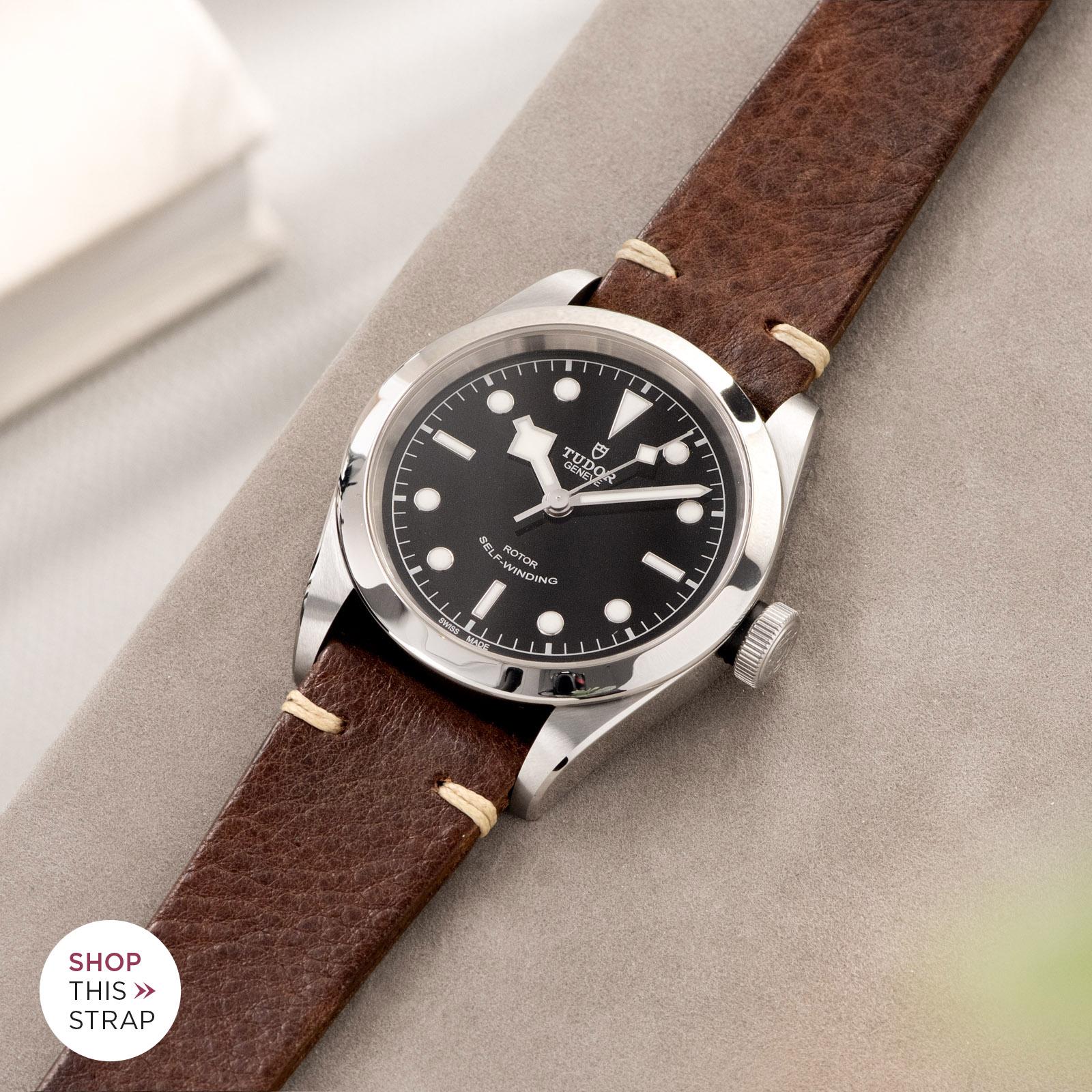 Bulang and Sons_Strap Guide_Tudor Heritage BlackBay 411_Lumberjack Brown Leather Watch Strap