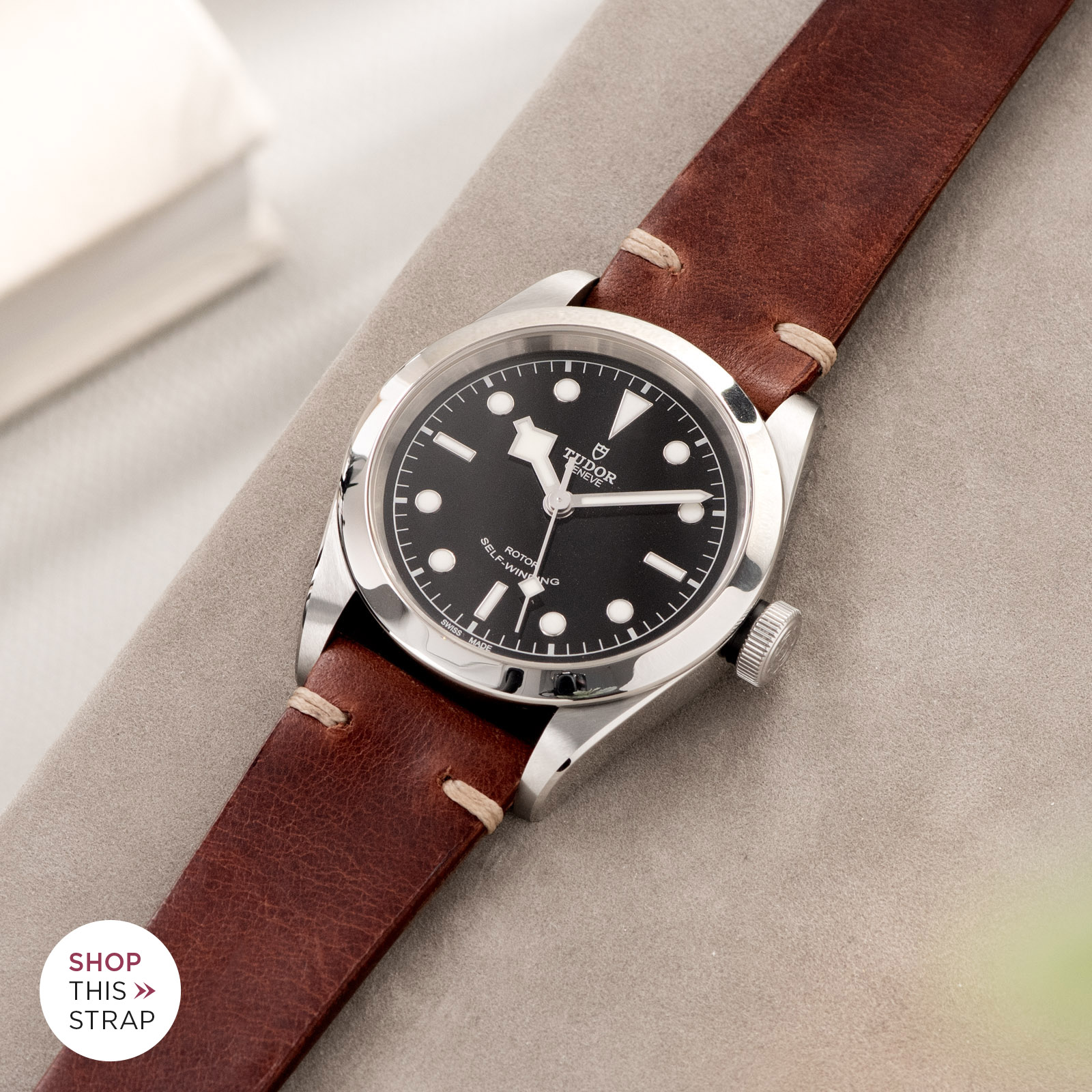 Bulang and Sons_Strap Guide_Tudor Heritage BlackBay 411_Siena Brown Leather Watch Strap
