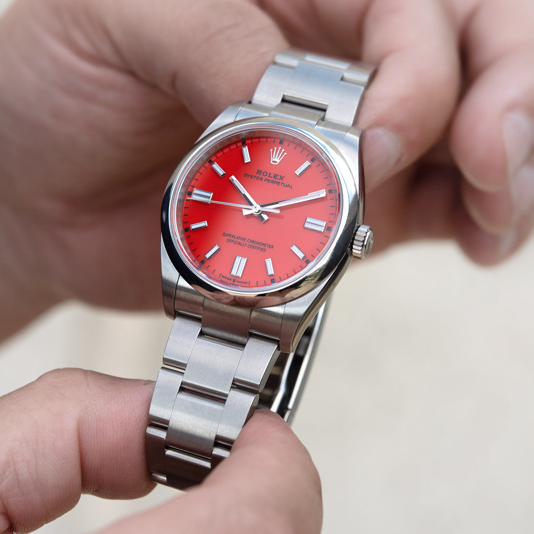 Rolex Oyster Perpetual 36mm Oystersteel 2020 Coral Red Review