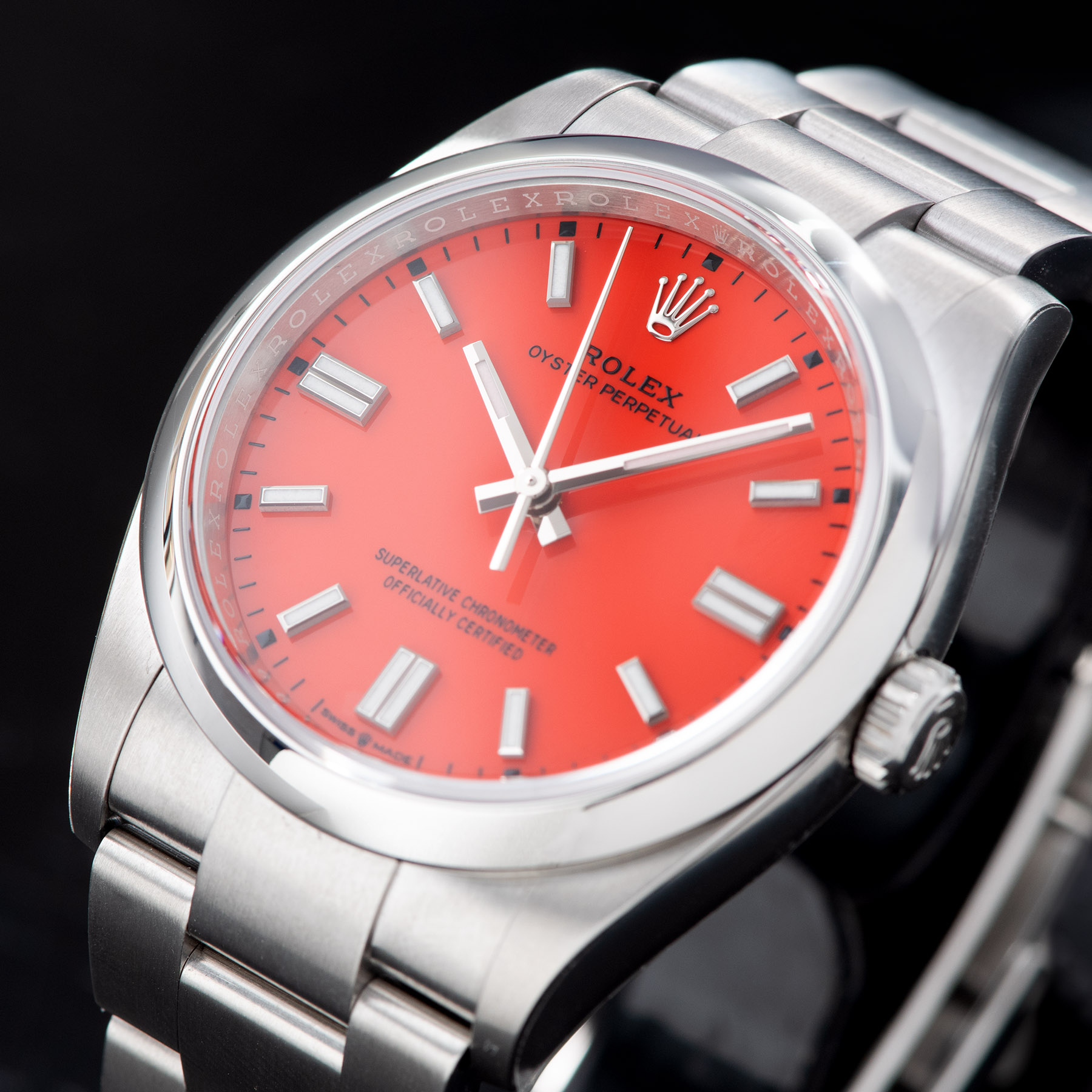 Rolex Oyster Perpetual 36mm Oystersteel 2020 Coral Red