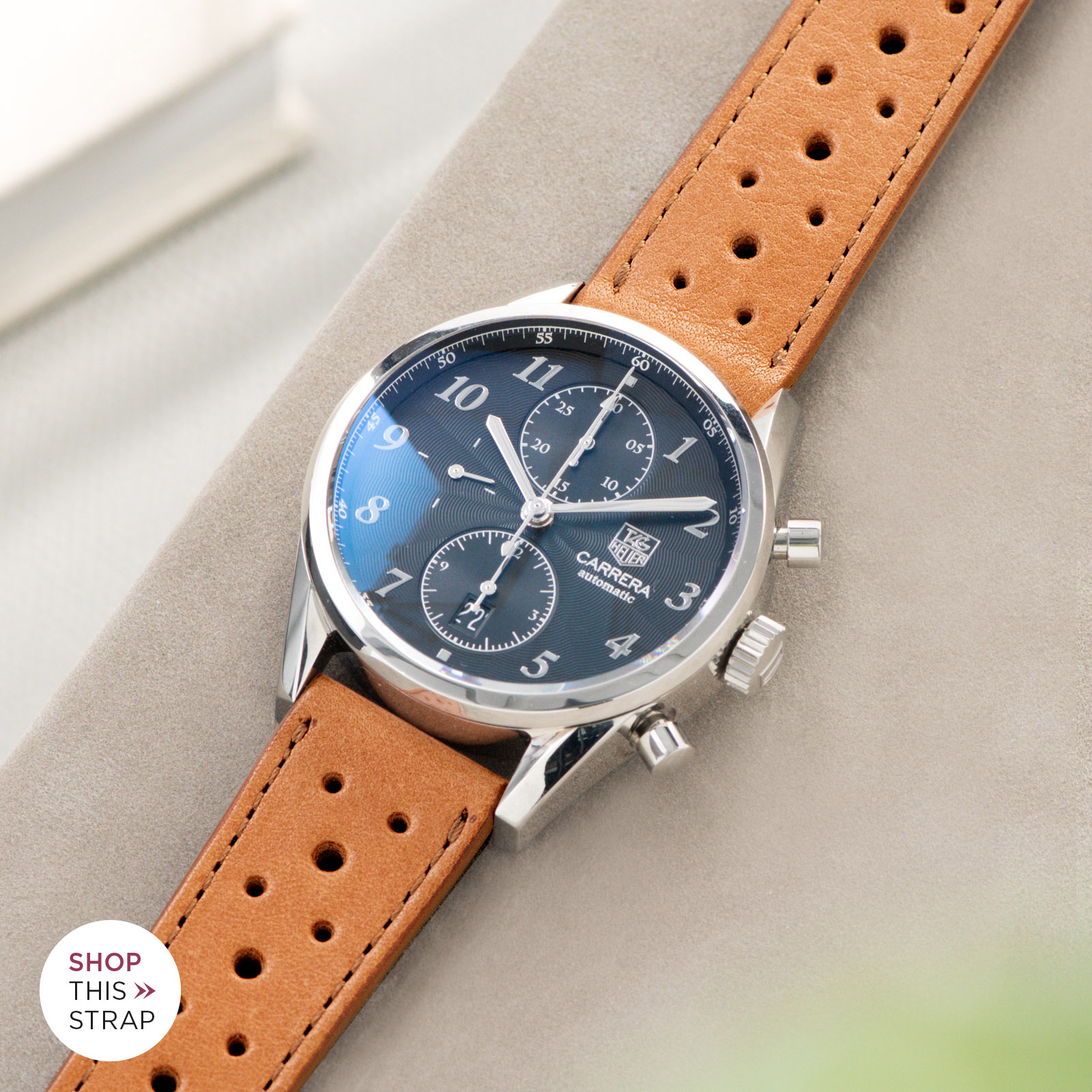 Bulang and Sons_Strap guide_Heuer Carrera Automatic_Racing Caramel Brown Leather Watch Strap